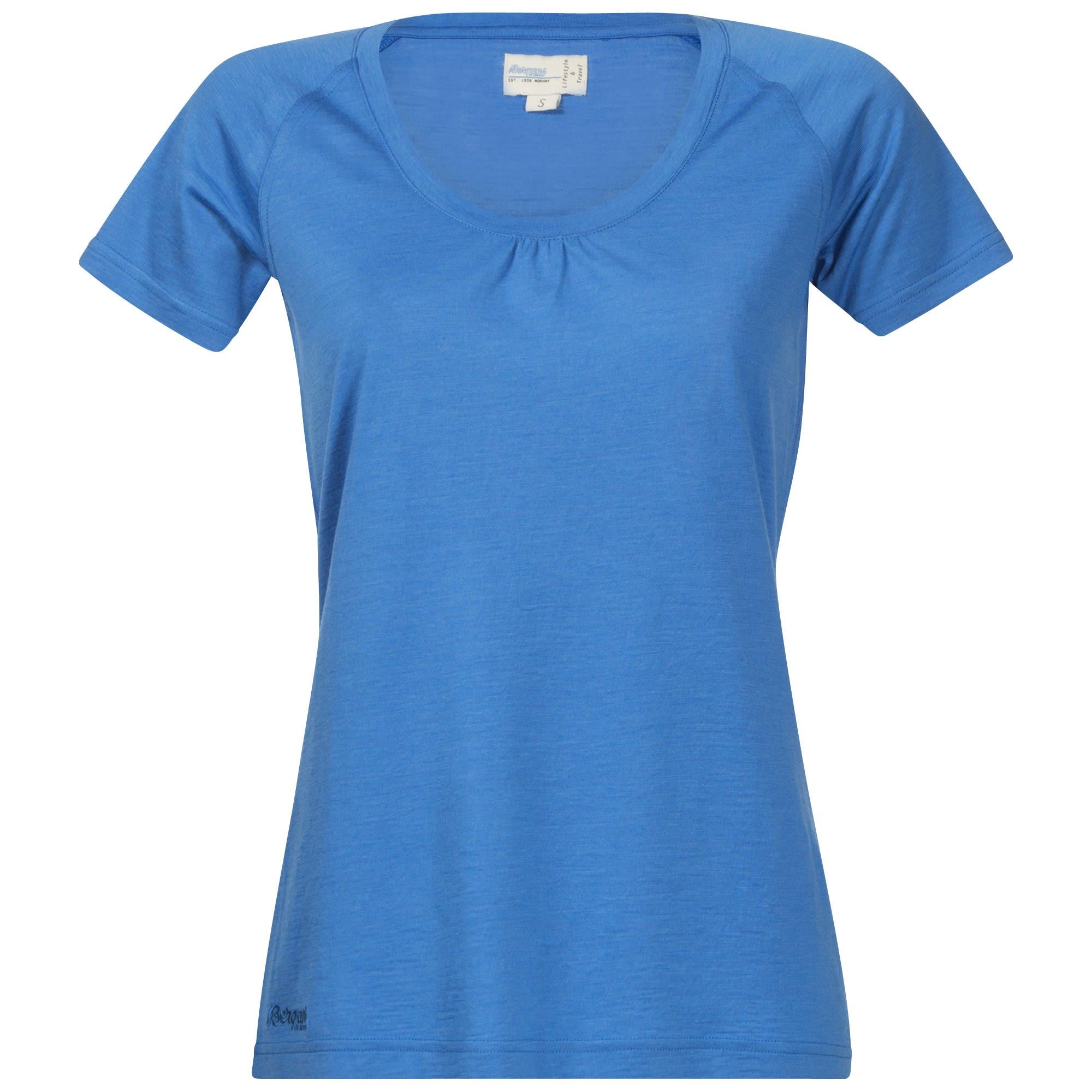 Bergans Sveve Wool Tee Blau, Female Merino Kurzarm-Shirt, L