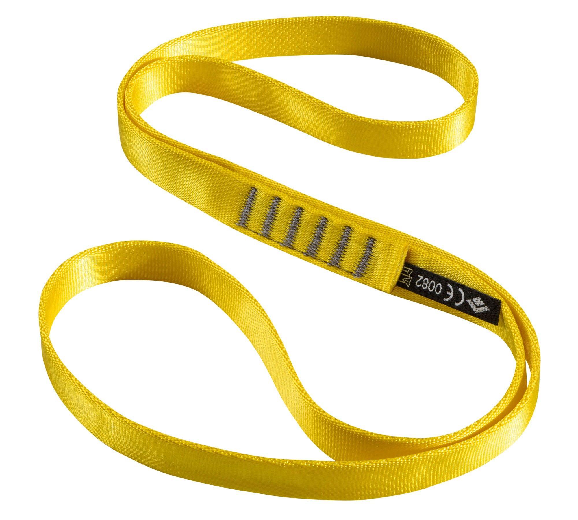 Black Diamond 18 MM Nylon Runners 60 CM, Yellow |  Kletterausrüstung