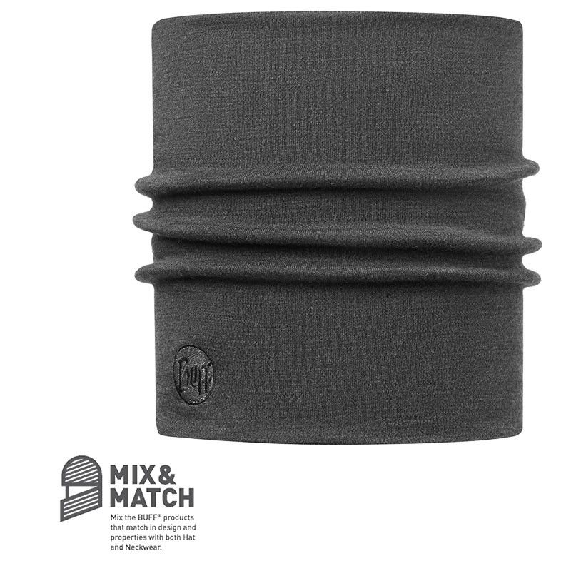 Buff Heavyweight Merino Wool Neckwarmer Grau, Merino Accessoires, One Size