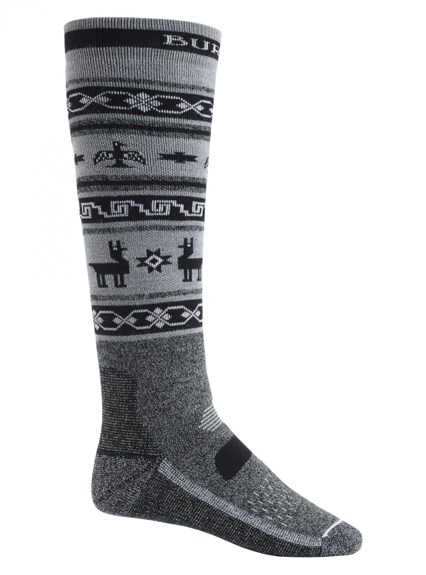 Burton Performance Midweight Sock Gestreift, Male Merino Ski-& Snowboardocken, M