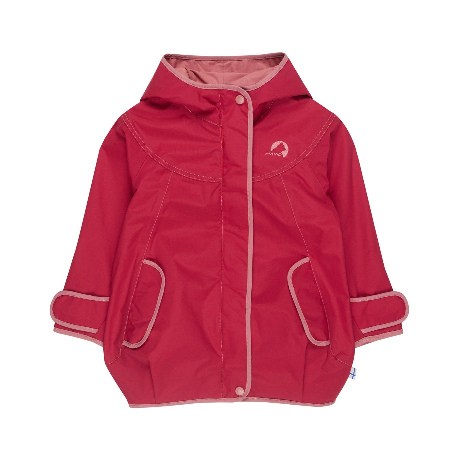 Finkid Girls Lokki Rot, Female Freizeitjacke, 90 -100