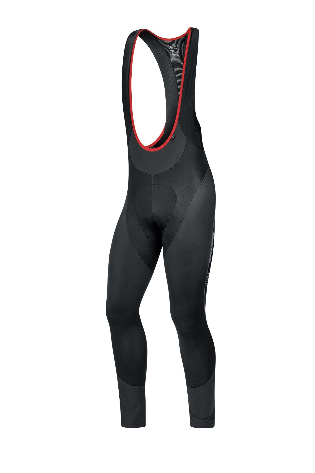 Gore Bike Wear Oxygen Partial Thermo Bibtights Long+ Schwarz, Male Hose, XXL