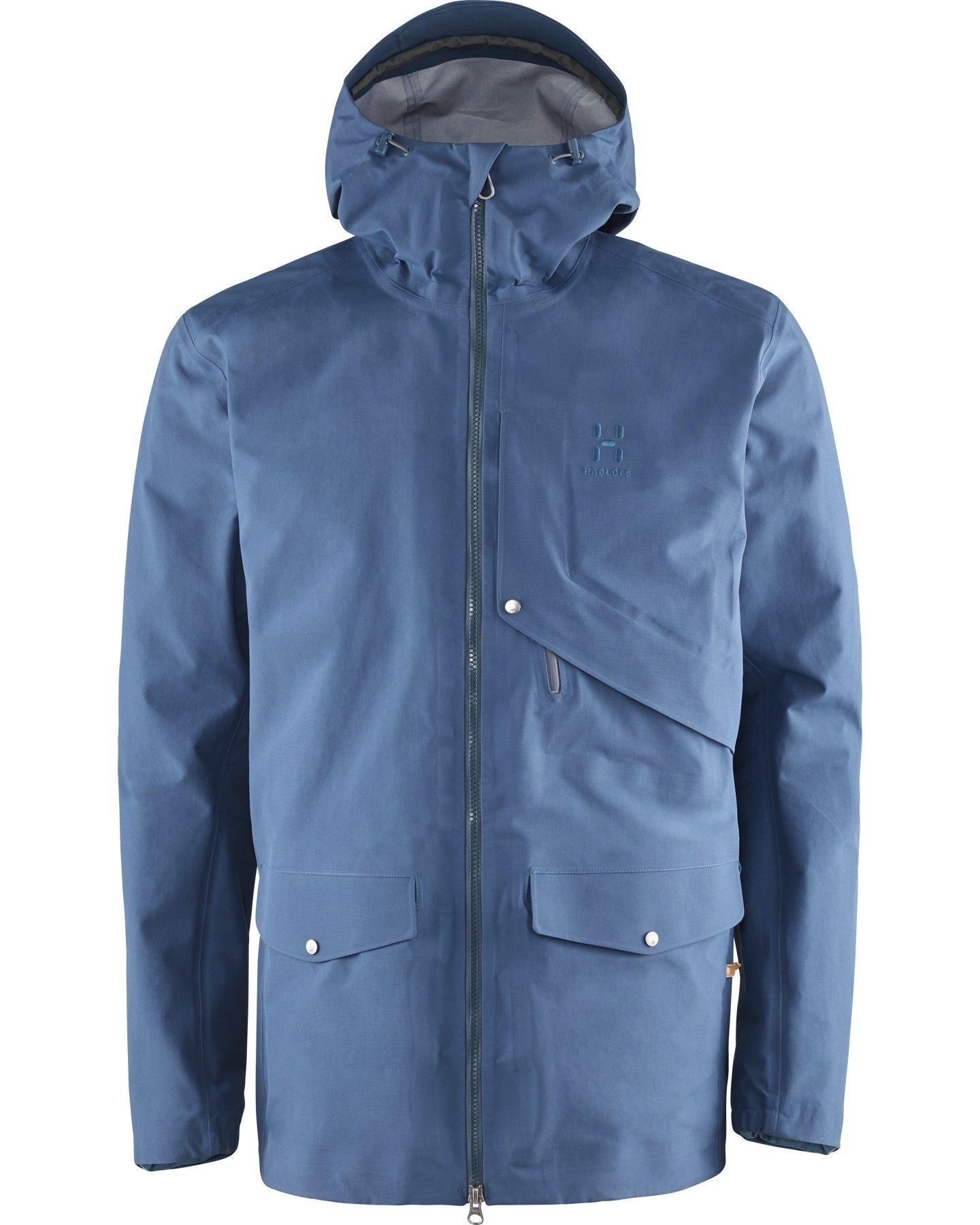 Haglöfs Selja Jacket Blau, Male Gore-Tex® Freizeitjacke, S