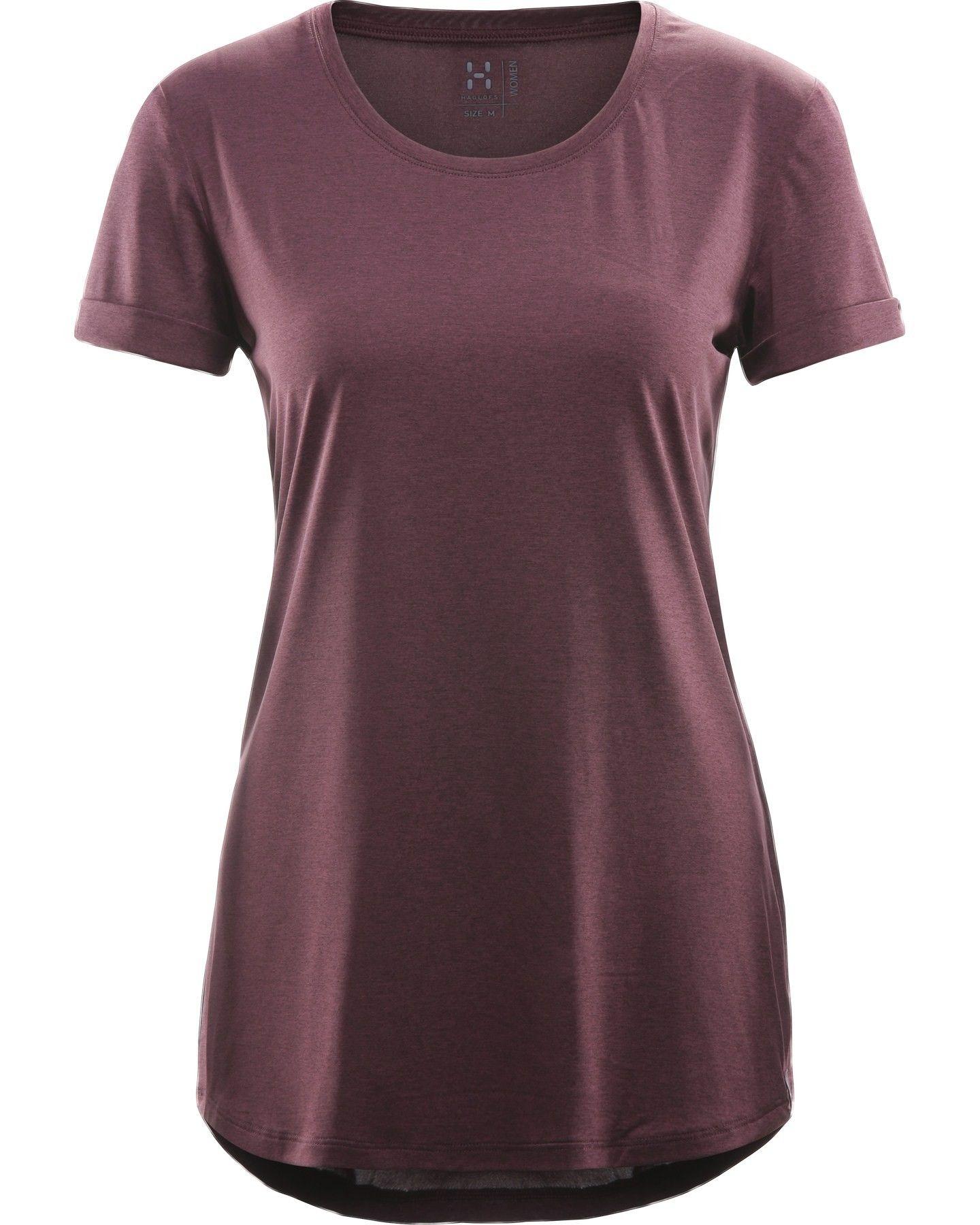 Haglöfs Ridge Hike Tee Lila/Violett, Female Kurzarm-Shirt, XL