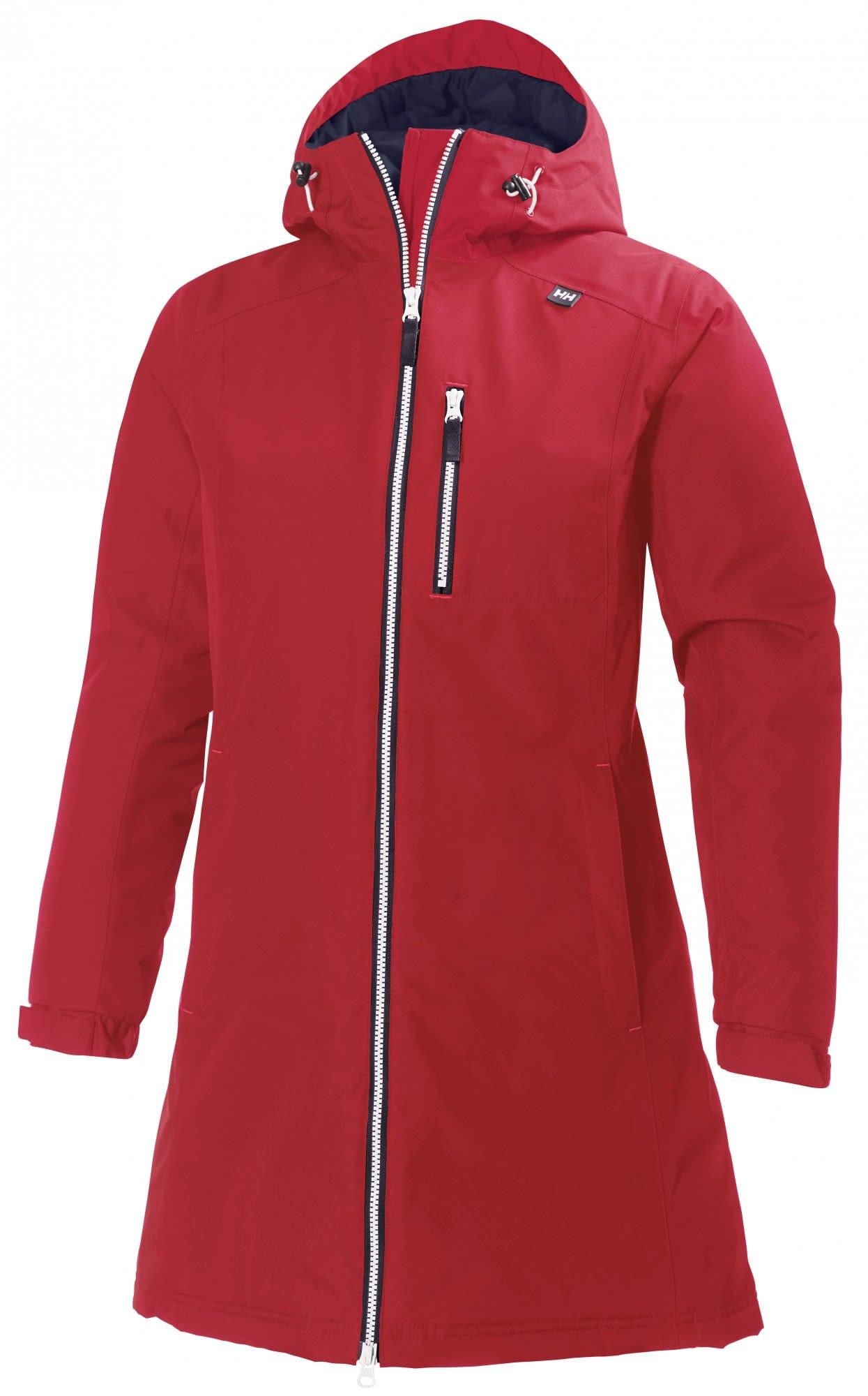 Helly Hansen Long Belfast Winter Jacket Rot, Female PrimaLoft® Freizeitjacke, X