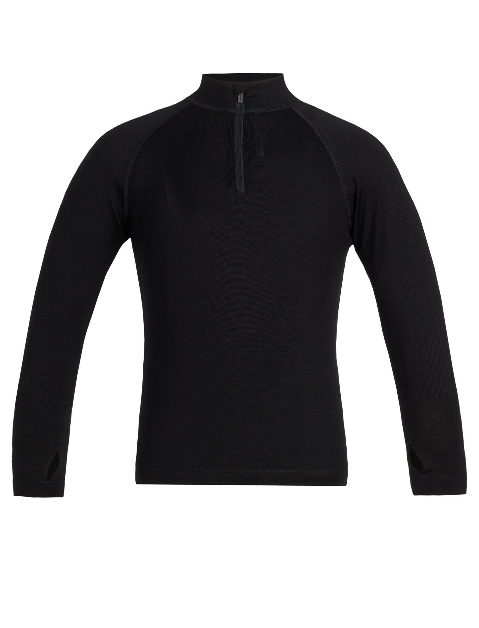 Icebreaker Kids 260 Tech Long-Sleeve Half Zip Schwarz, Merino 02 -Farbe Black, 0