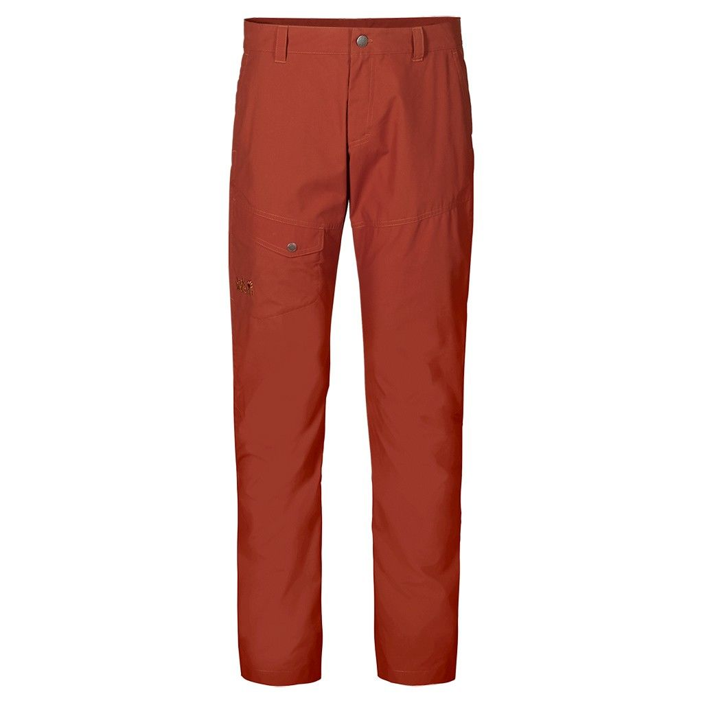 Jack Wolfskin Chino Pants Rot, Male Hose, 52