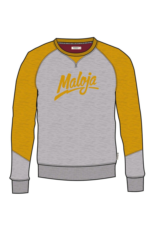 Maloja Gardinerm. Pullover Gelb, Male XL -Farbe Mustard, XL