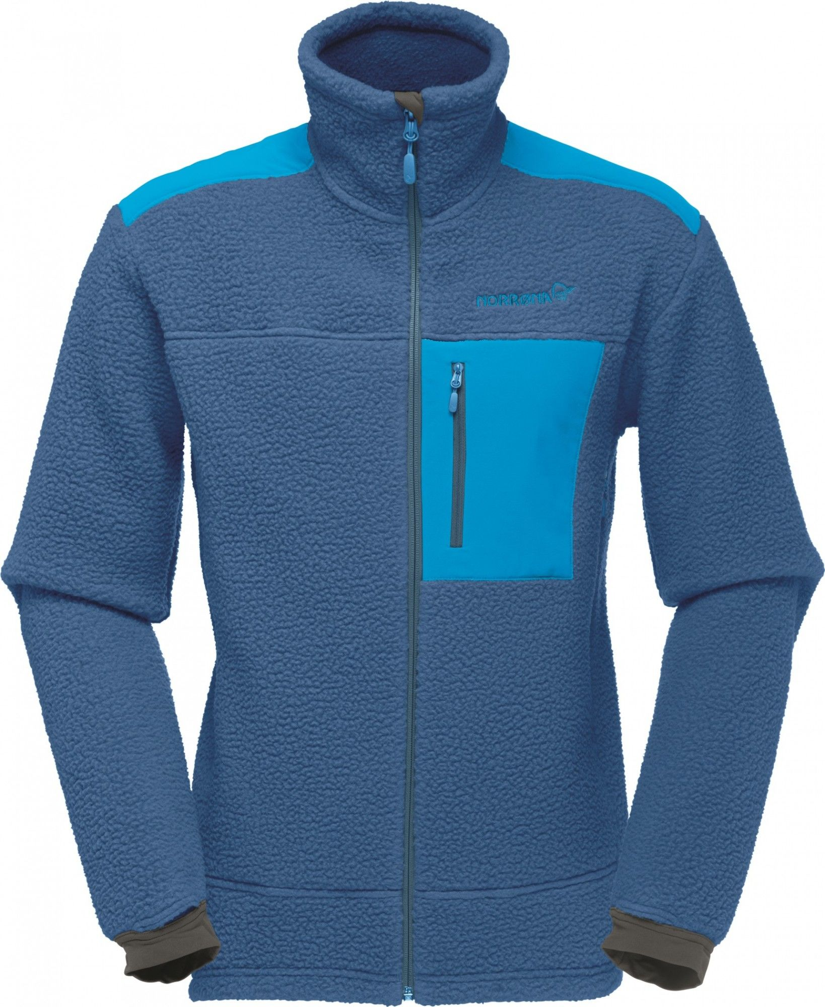 Norrona Trollveggen Thermal Pro Jacket Blau, Male Polartec® Fleecejacke, M