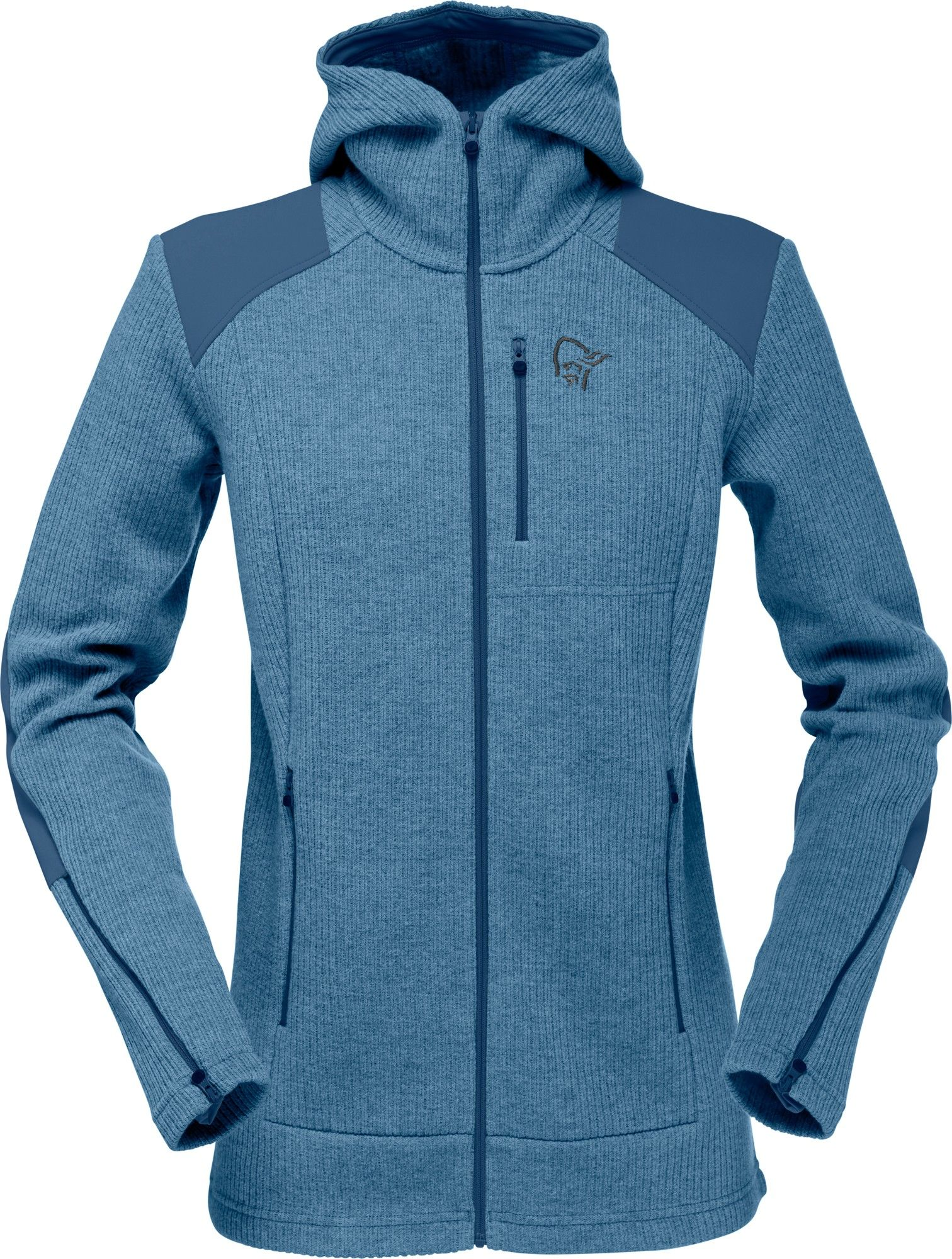 Norrona Tamok Warm/Wool2 Zip Hood Blau, Female Freizeitjacke, S