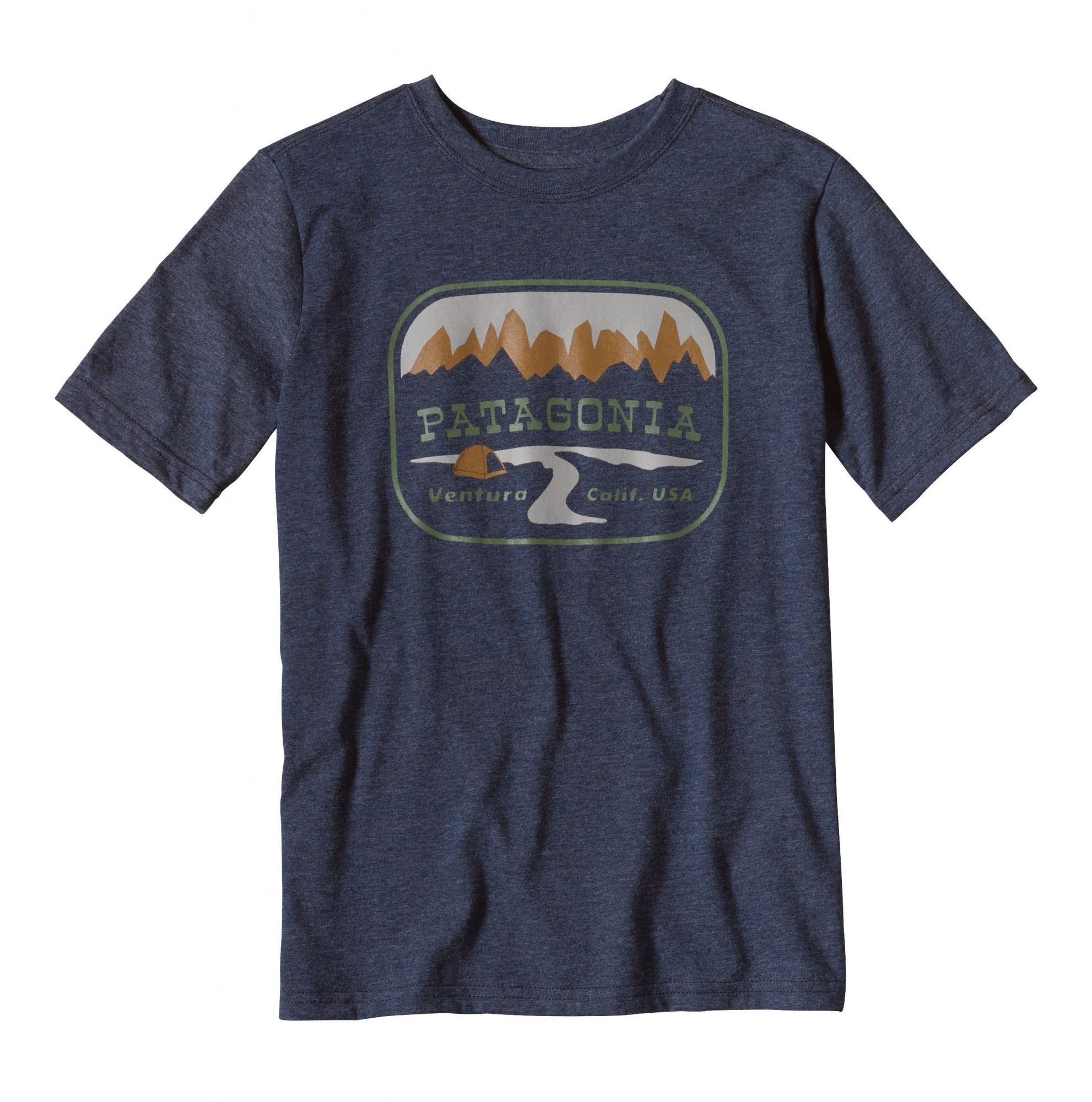 Patagonia Boys Pointed West Cotton Poly T-Shirt | Kinder Kurzarm-Shirt