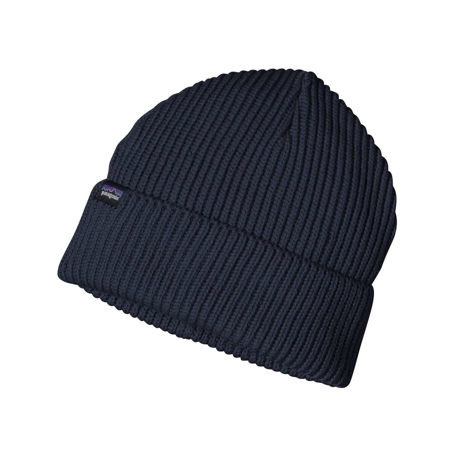 Patagonia Fishermans Rolled Beanie Blau, Accessoires, One Size