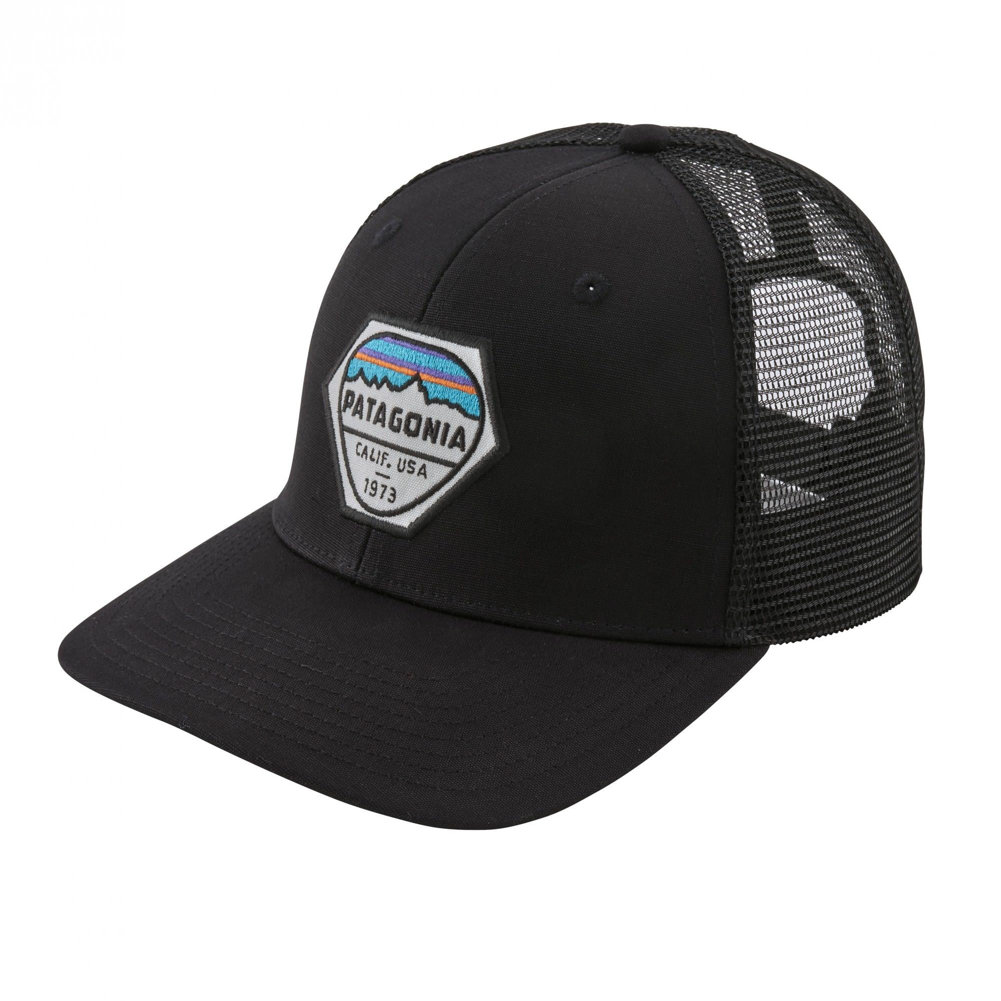 Patagonia Fitz Roy HEX Trucker Hat Schwarz, Accessoires, One Size