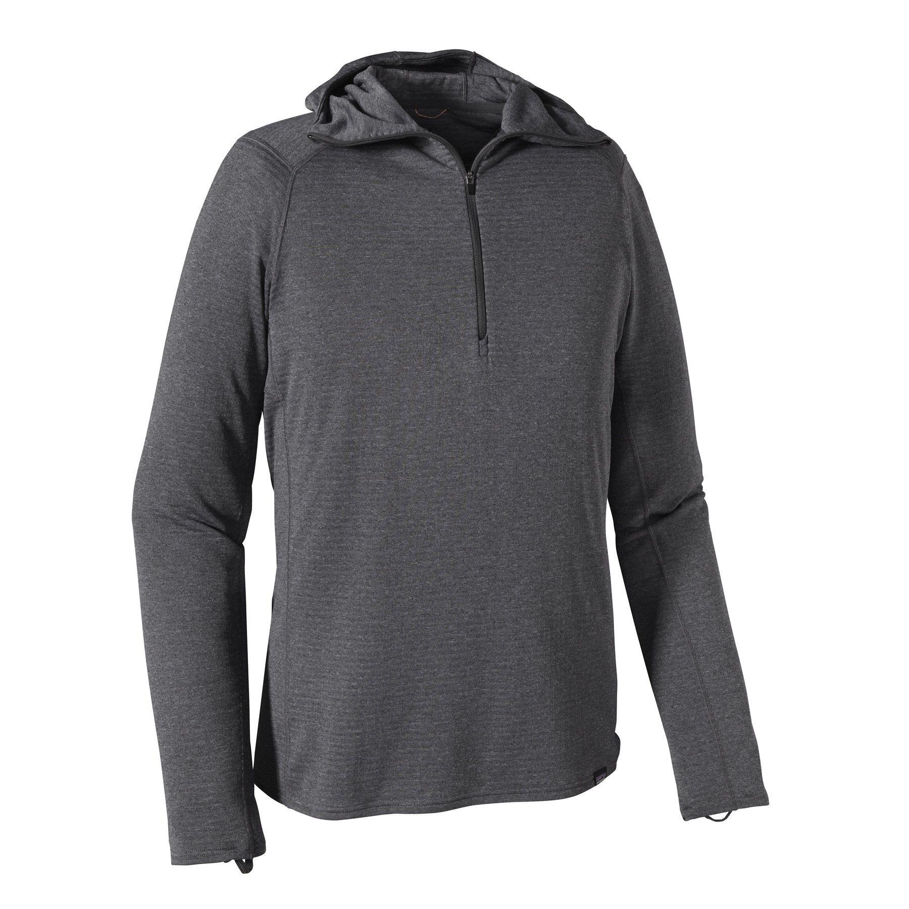 Patagonia Capilene Thermal Weight Zip Neck Hoody Grau, Male Polartec® Langarm-S