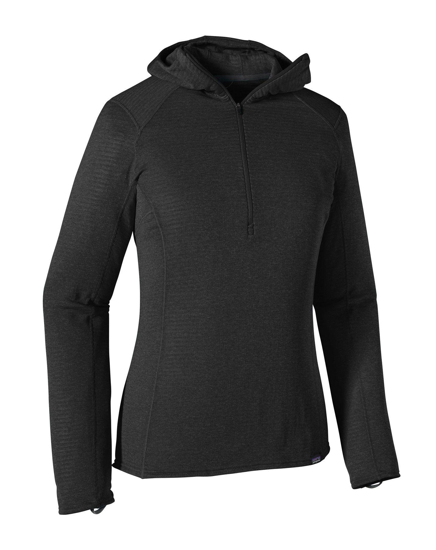 Patagonia Capilene Thermal Weight Zip Neck Schwarz, Female Polartec® Langarm-Sh