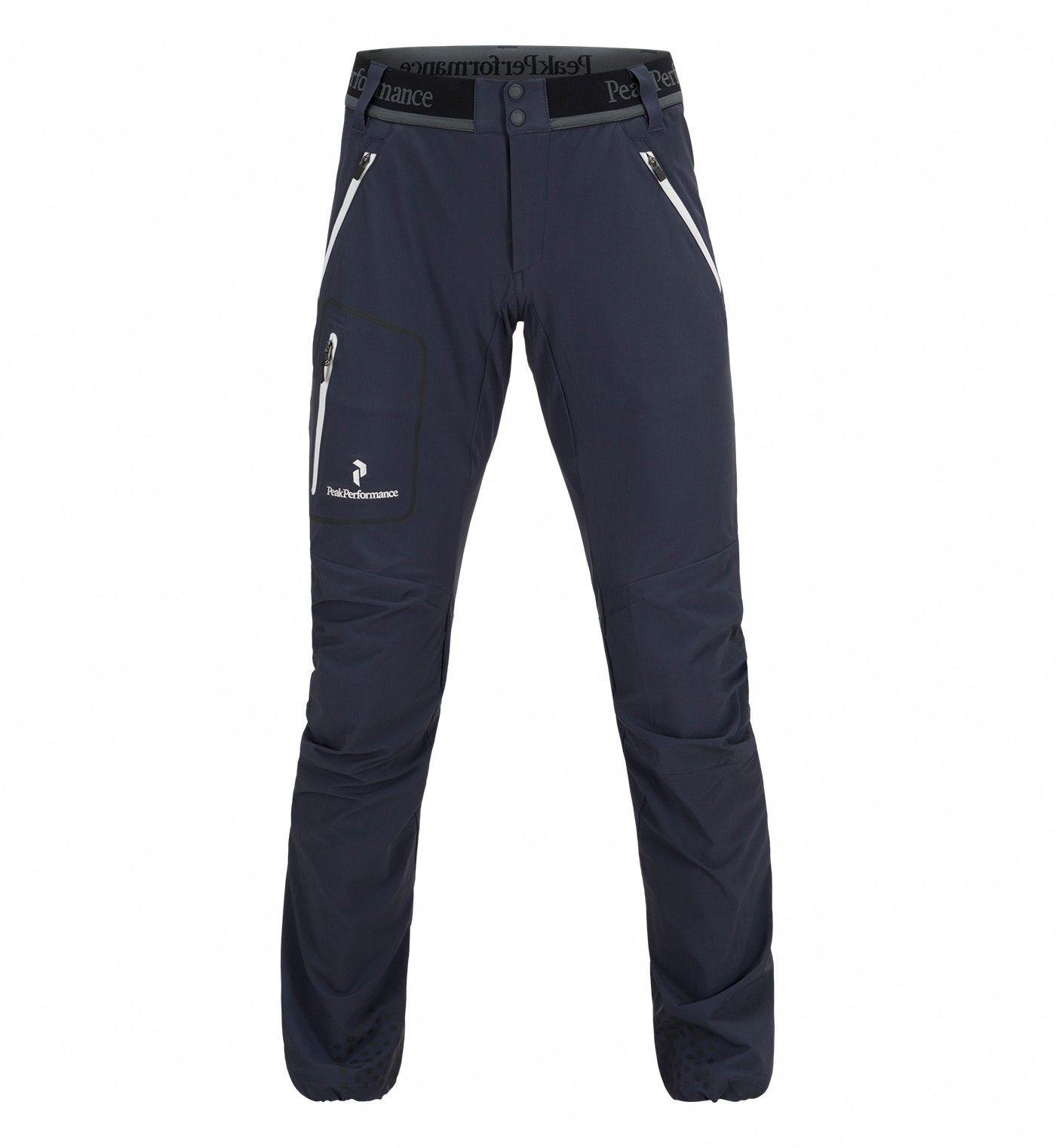 Peak Performance Black Light Lite Softshell Pants Blau, Female Hose, L