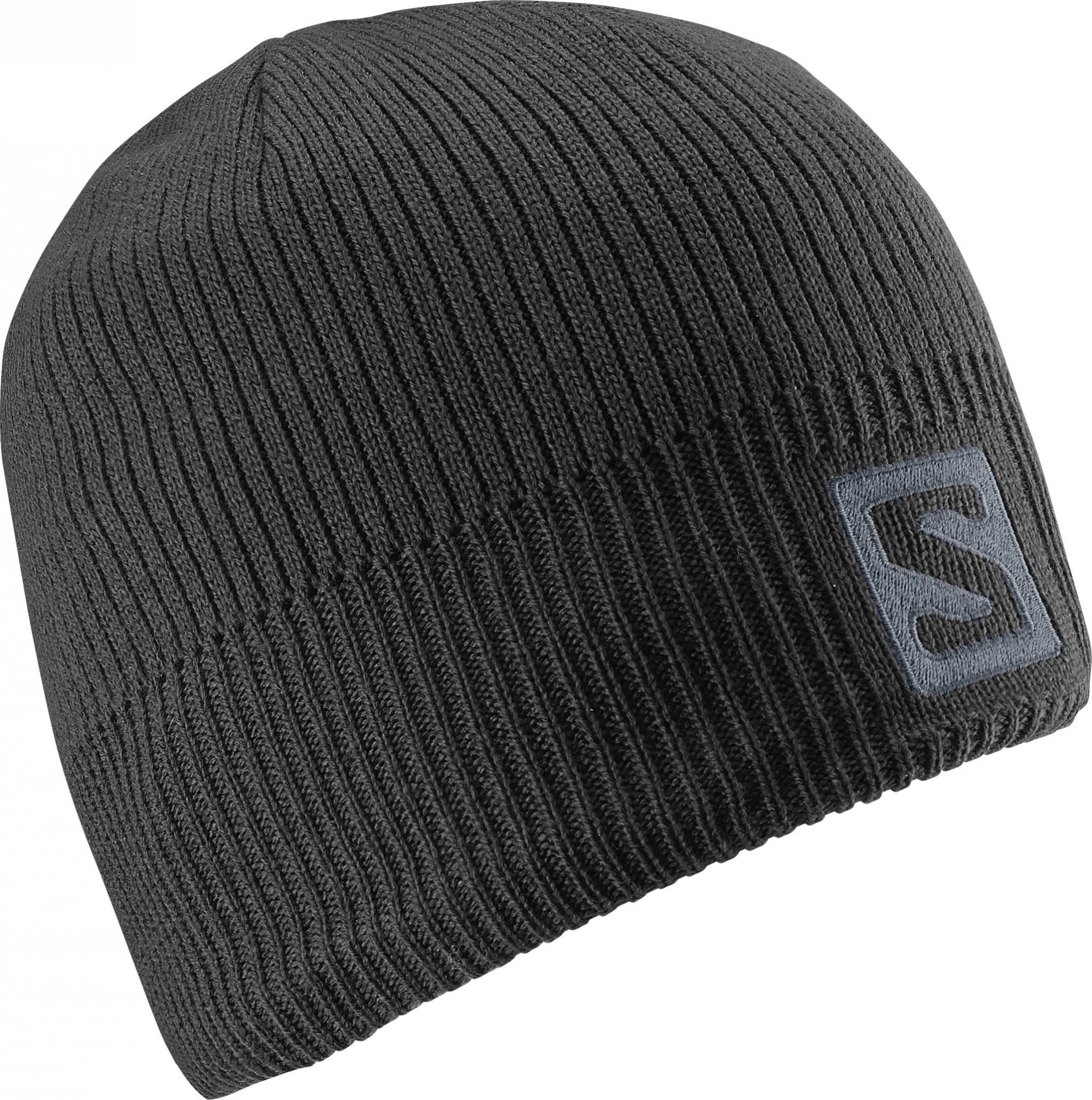 Salomon Logo Beanie Schwarz, Accessoires, One Size