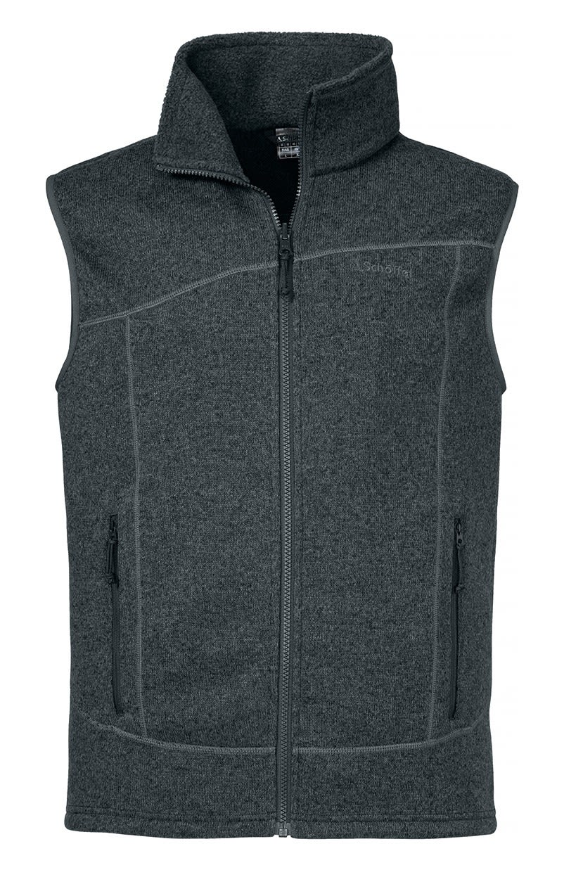 Schöffel Zipin! Fleece Vest Imphal, Charcoal Grau, 52