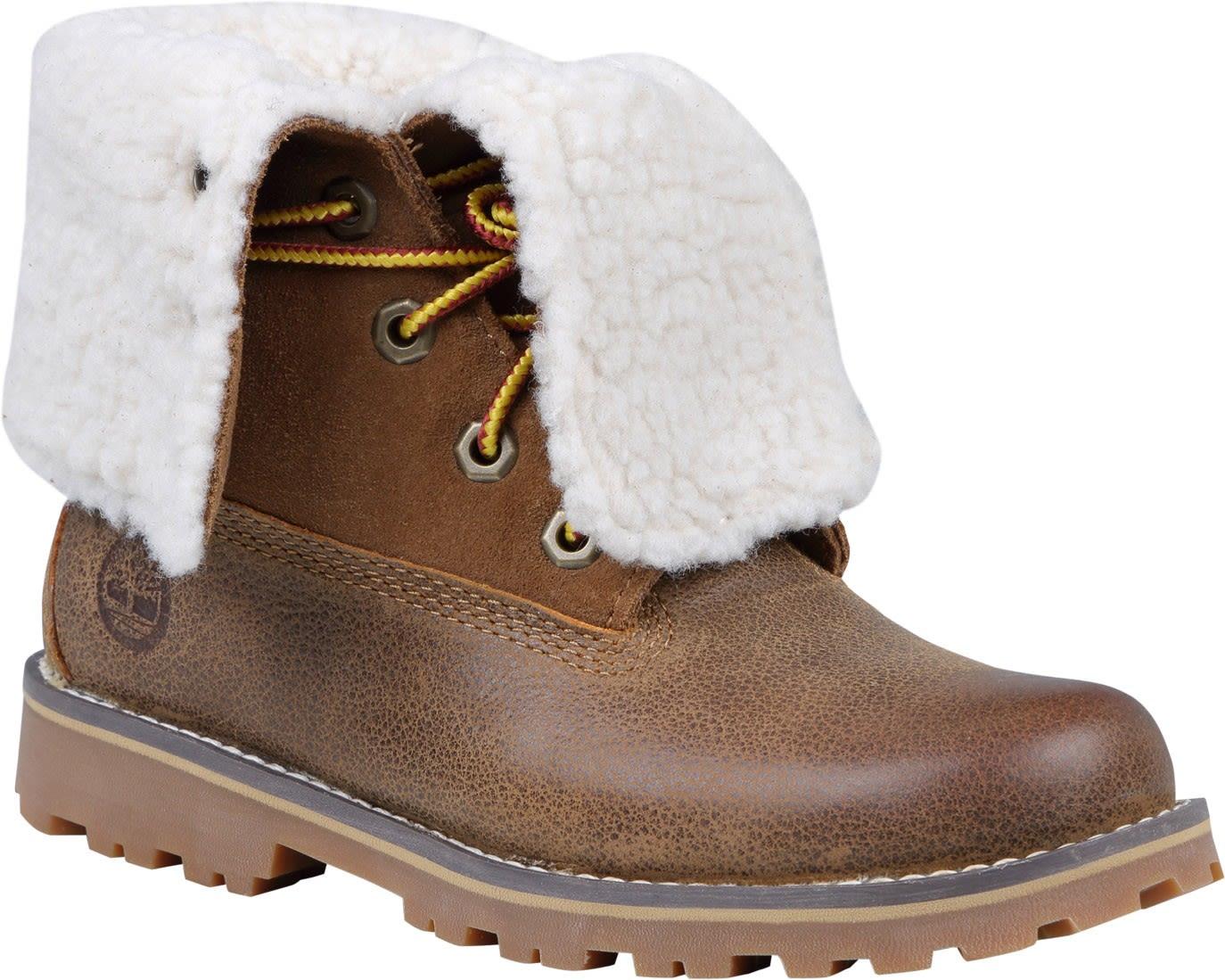 Timberland Youth 6-Inch Waterproof Faux Fur Boot Braun, EU 32 -Farbe Dark Sudan