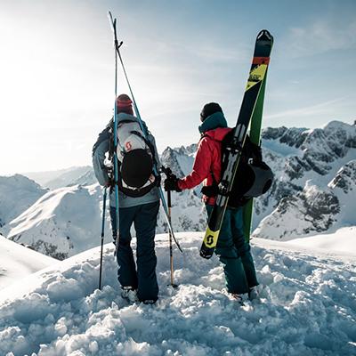 Mit Scottbekleidung skifahren