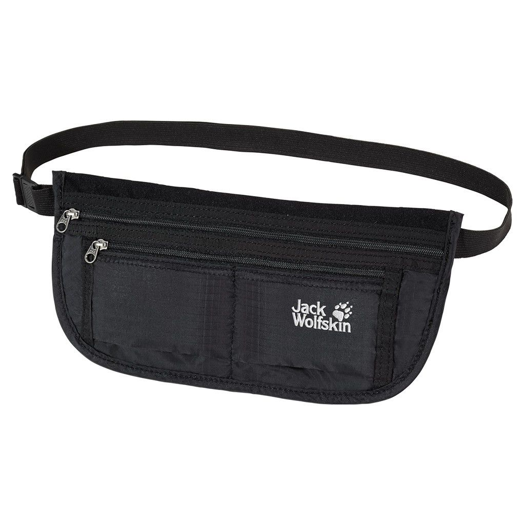 Jack Wolfskin Document Belt DE Luxe Schwarz, Dokumenttasche, One Size