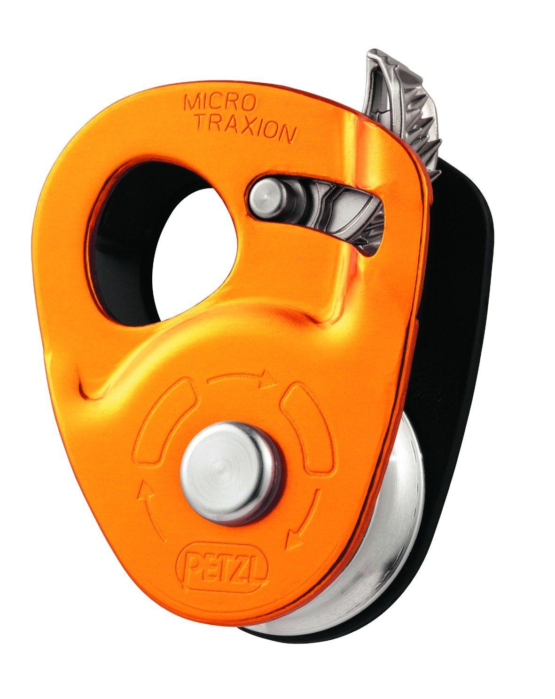 Petzl Micro Traxion Orange, Klettern, One Size