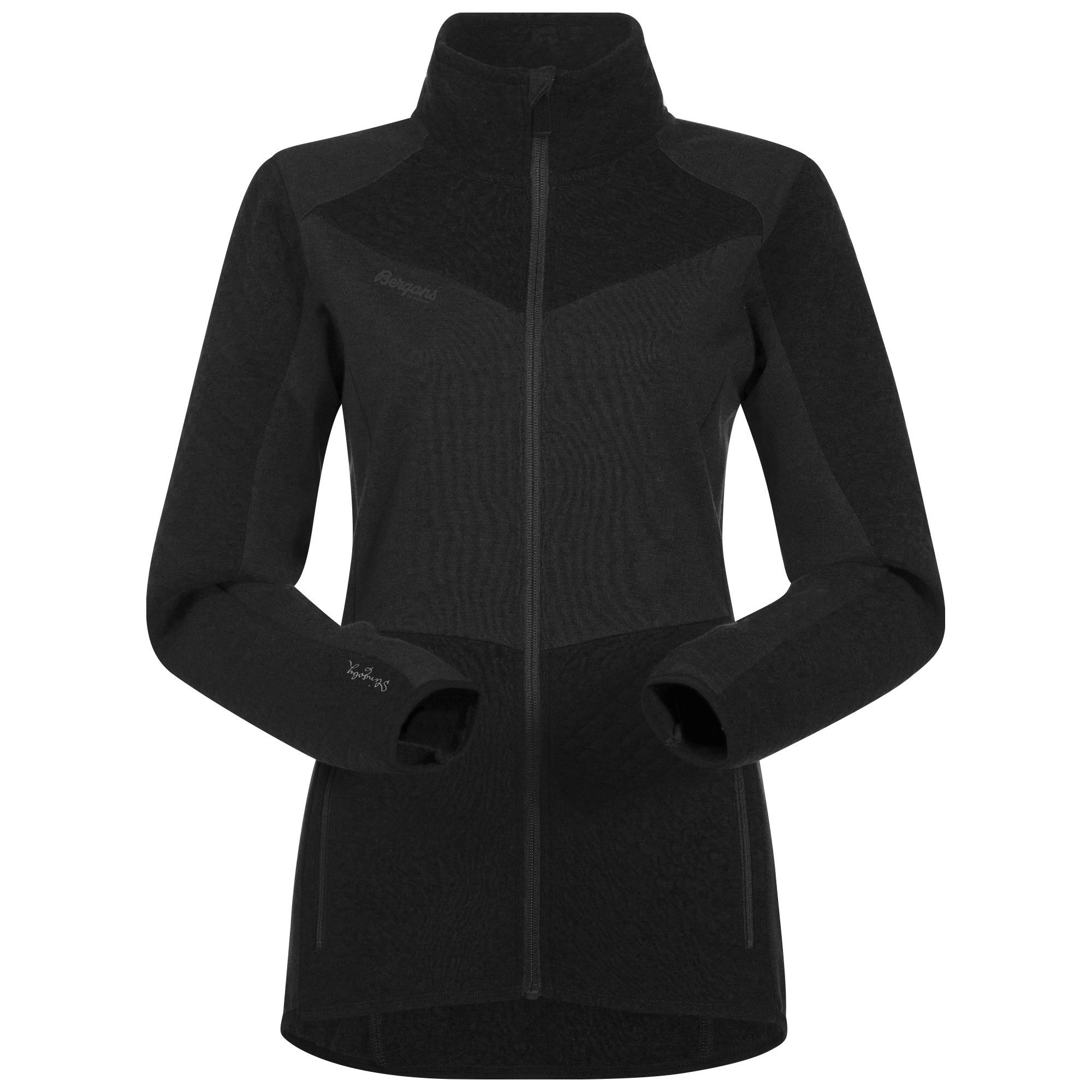 Bergans Middagstind Jacket Schwarz, Female Merino Mens -Farbe Black, M