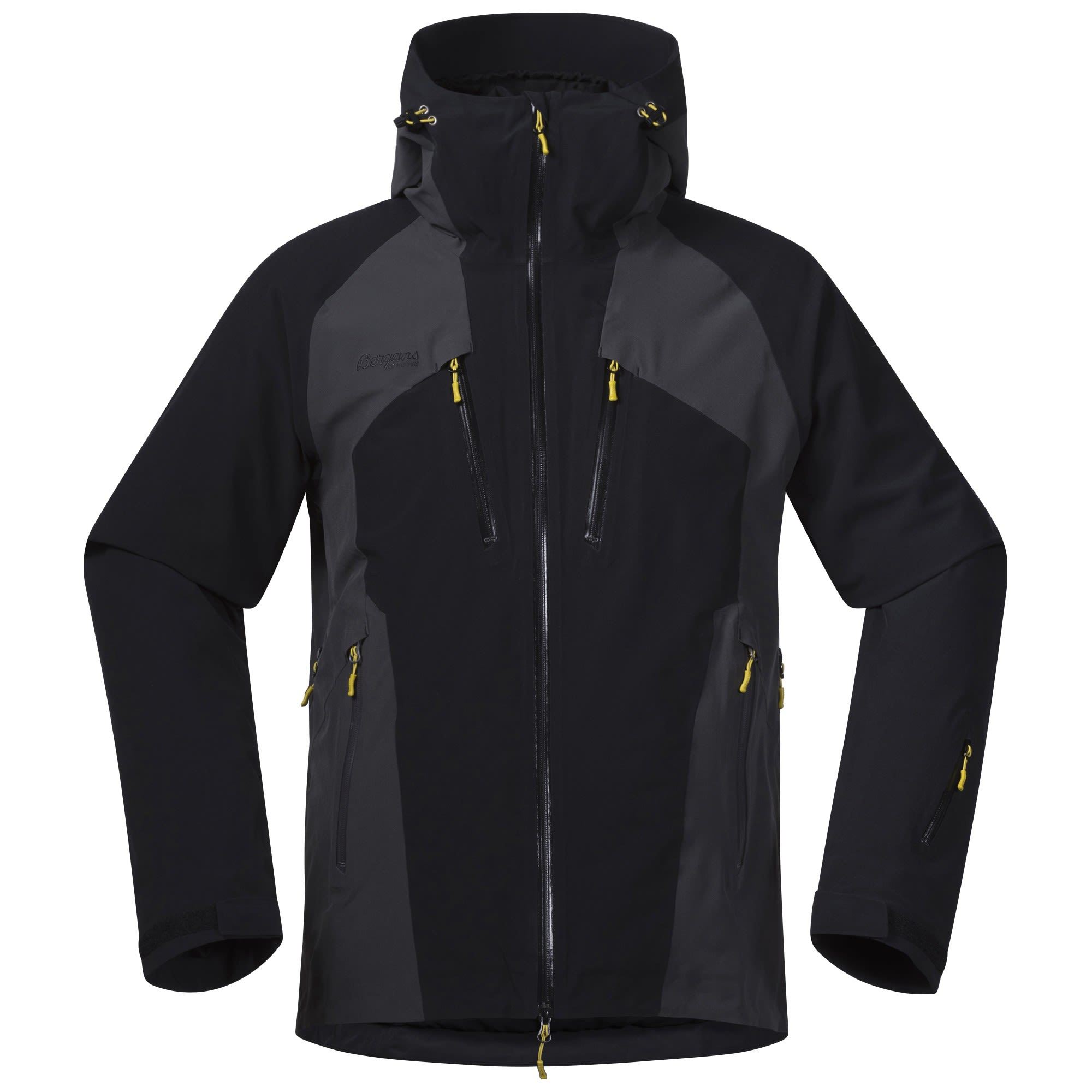 Bergans Oppdal Jacket Colorblock, Male XL -Farbe Black -Solid Charcoal, XL
