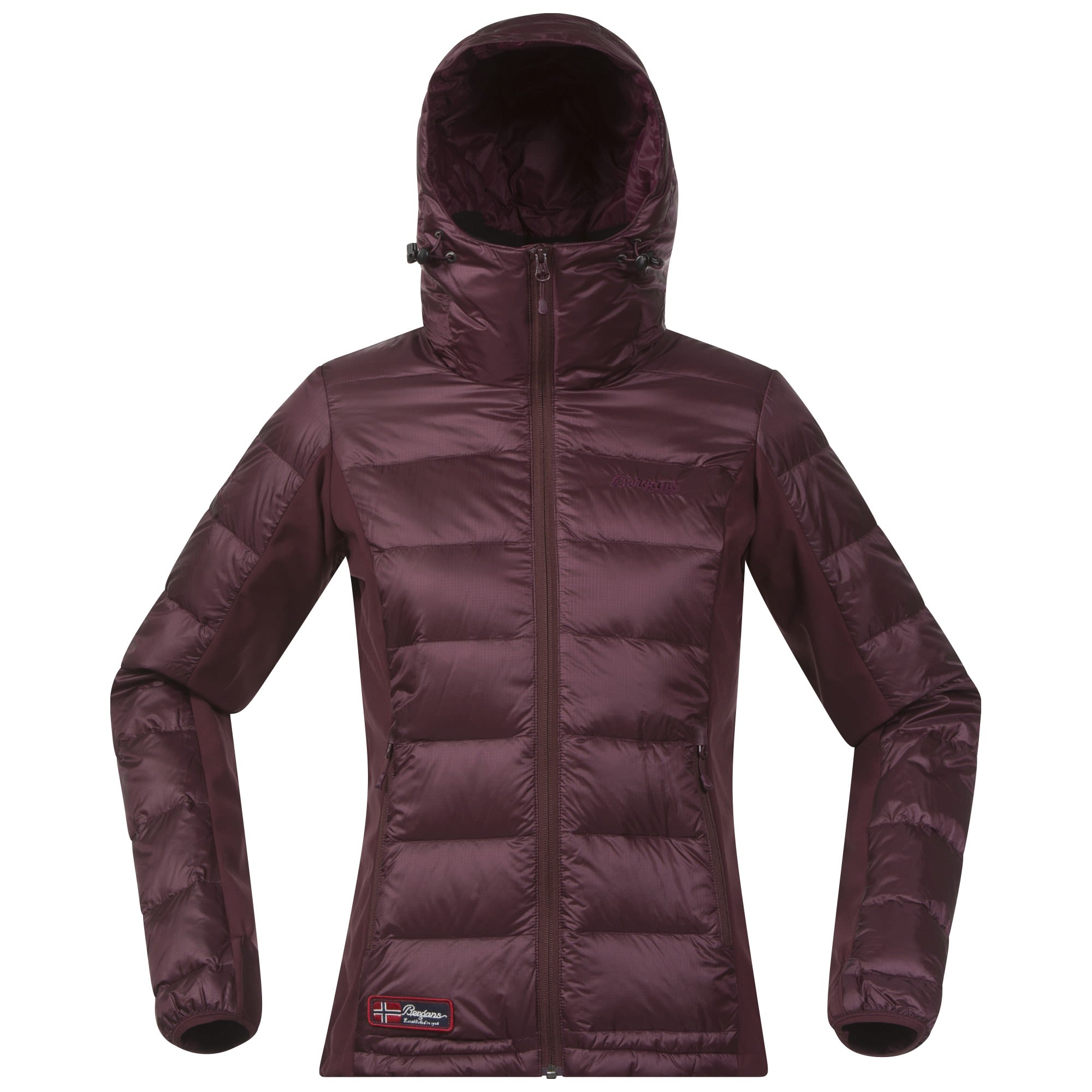 Bergans Myre Down Jacket Rot, Female Daunen XS -Farbe Dark Ruby, XS