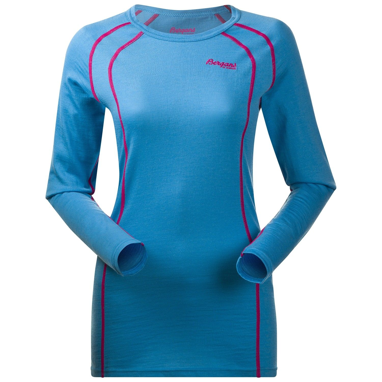 Bergans Fjellrapp Shirt Blau, Female Merino Oberteil, XS