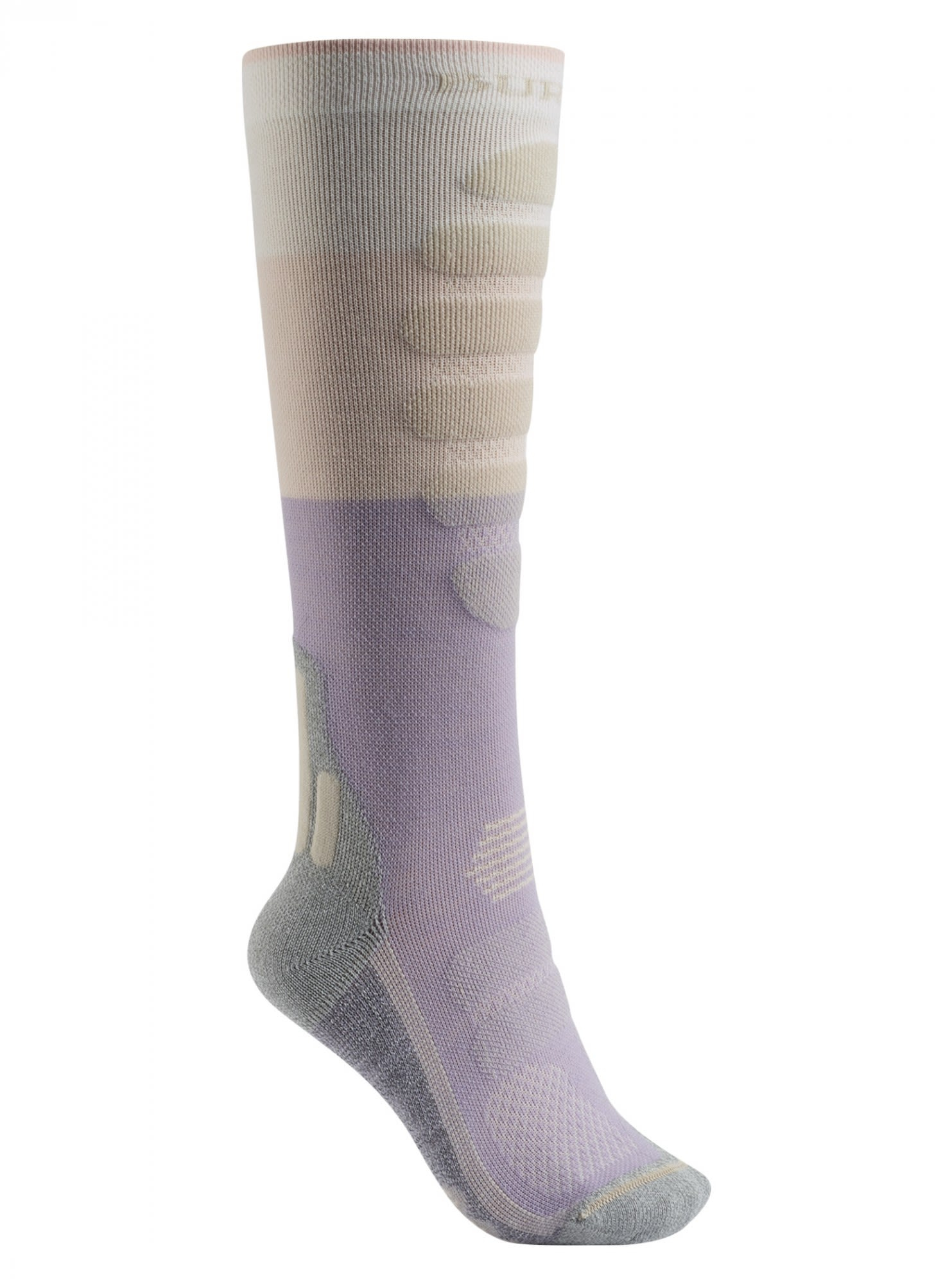 Burton Performance Plus Lightweight Sock Beige, Female Merino Ski-& Snowboardock