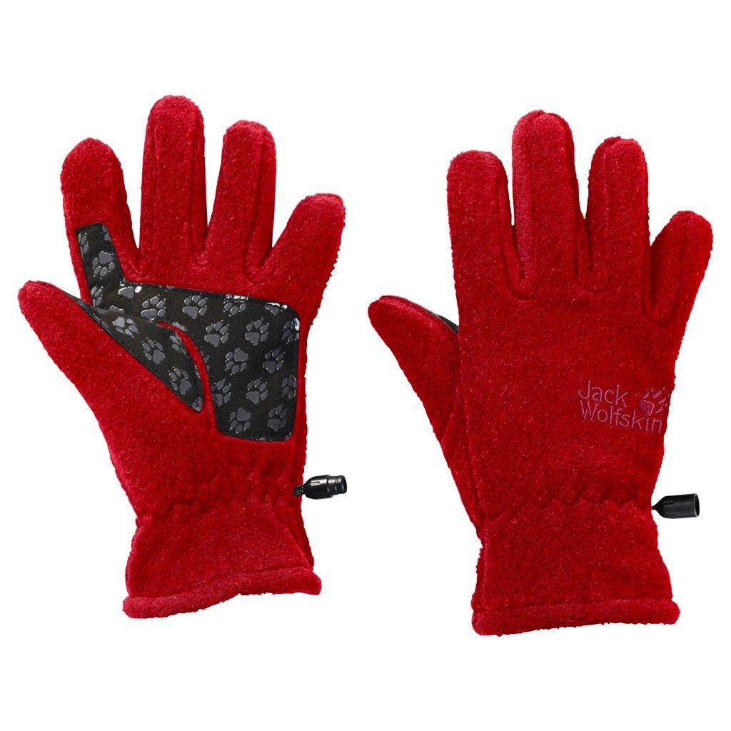 Jack Wolfskin Kids Fleece Glove Rot, Accessoires, 140