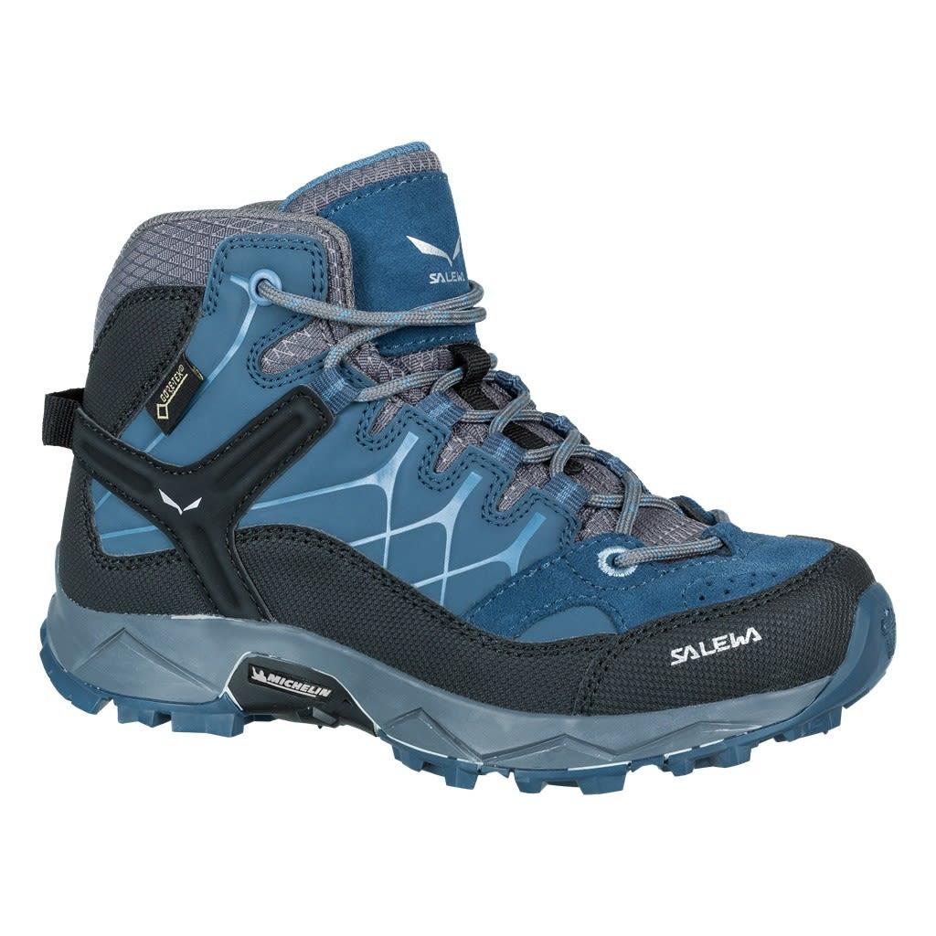 Salewa Junior Alp Trainer Mid Gtx® Blau, Gore-Tex® EU 29 -Farbe Dark Denim -Ch