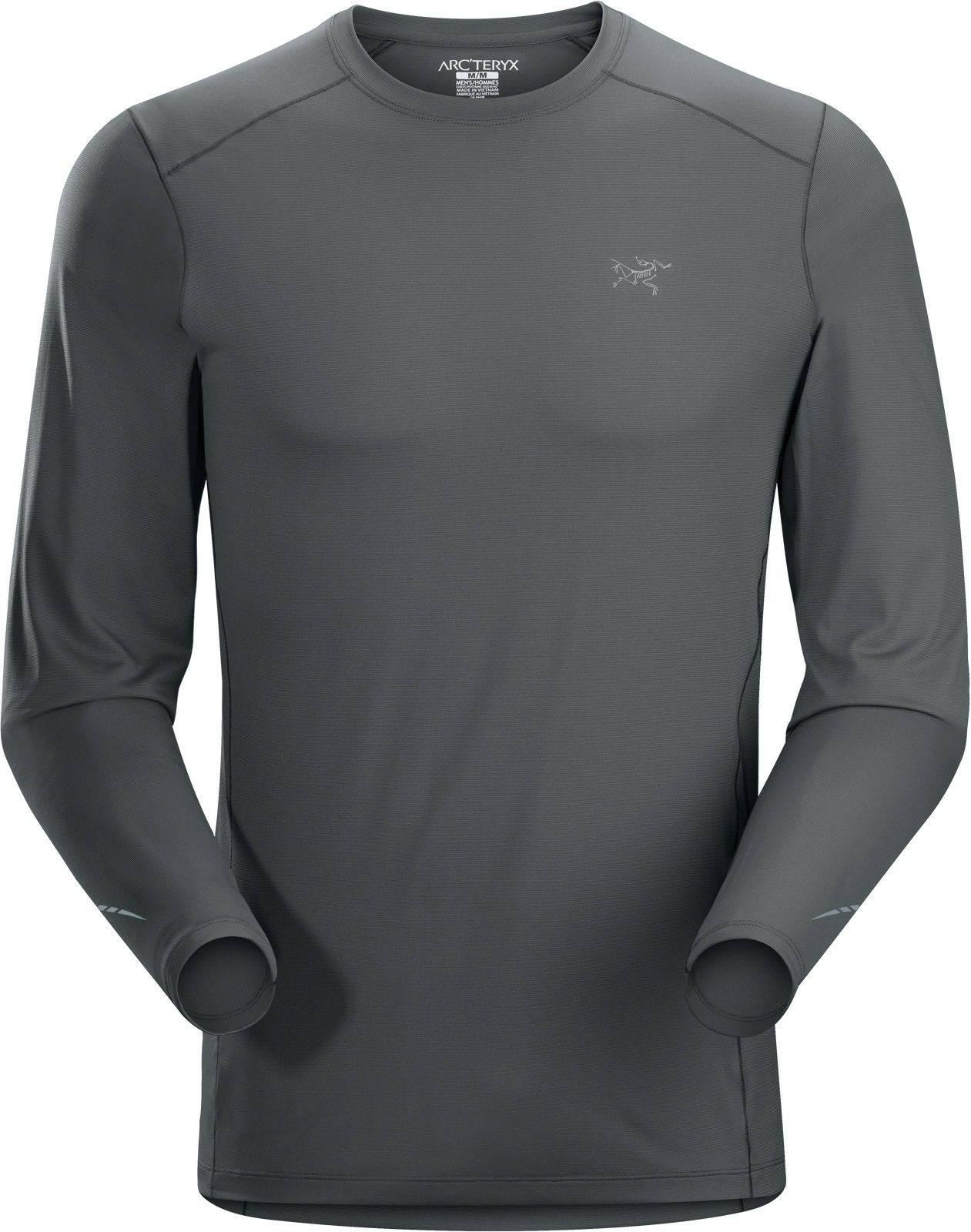 Arcteryx Motus Crew Long-Sleeve Grau, Male Langarm-Shirt, S