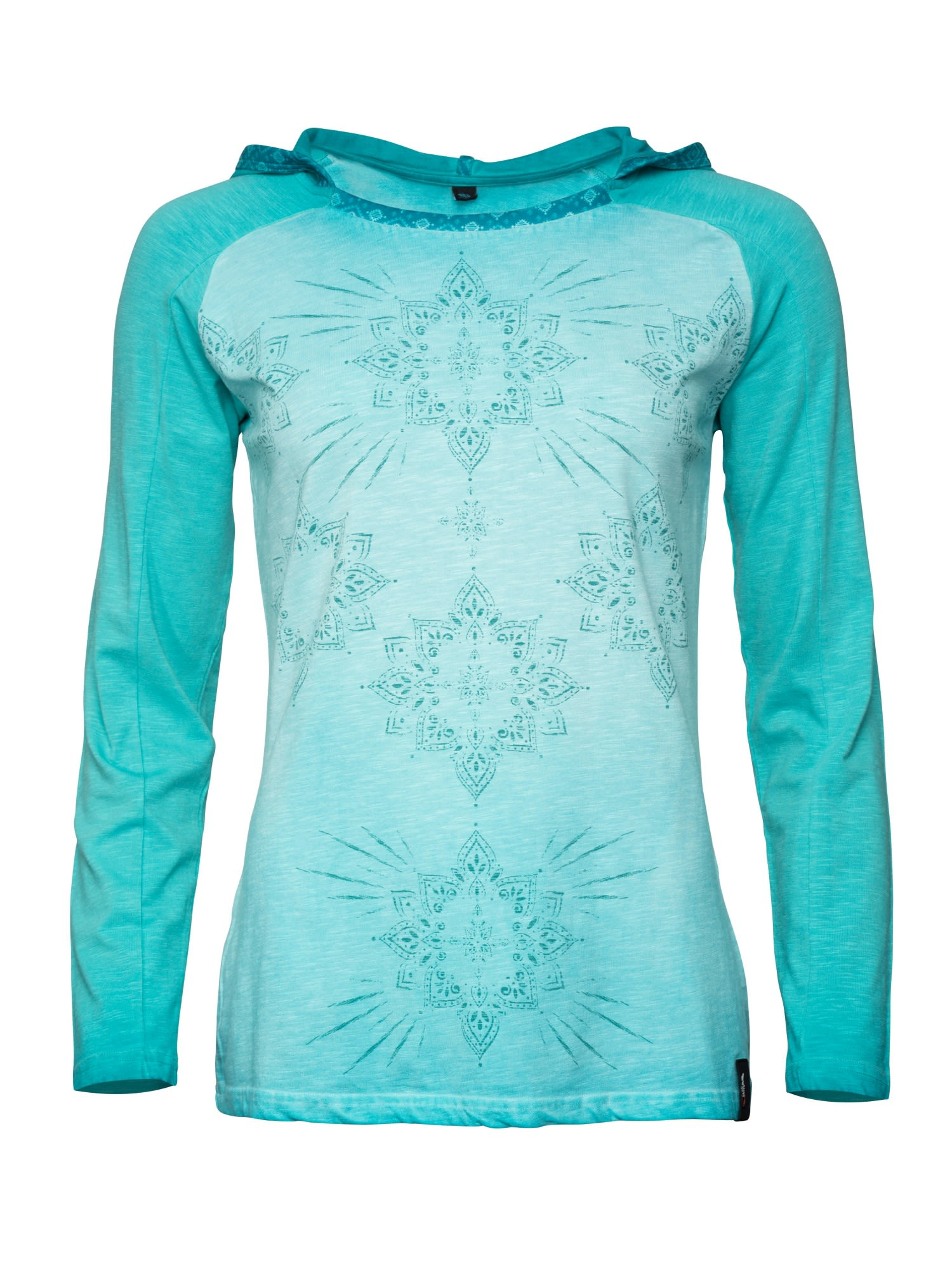 Chillaz Bergamo Ornament Longsleeve Blau, Female Langarm-Shirt, 40