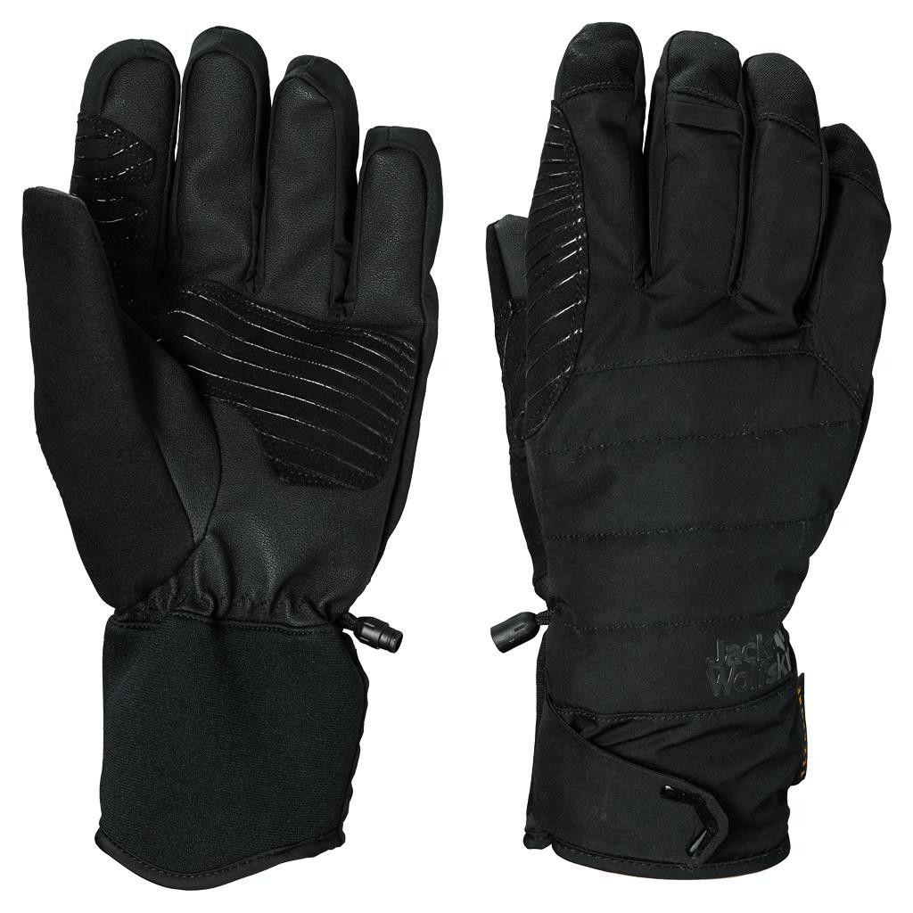 Jack Wolfskin Texapore Whiteline 3in1 Glove Schwarz, Accessoires, XS