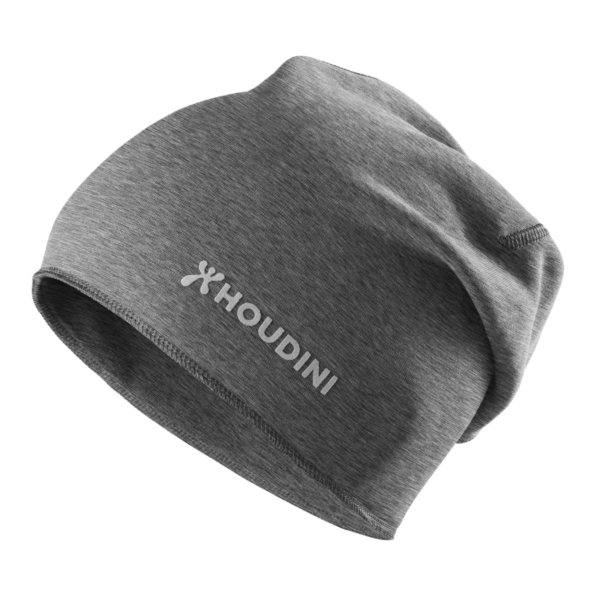 Houdini Toasty Top Hat Heather Grau, Polartec® Accessoires, L