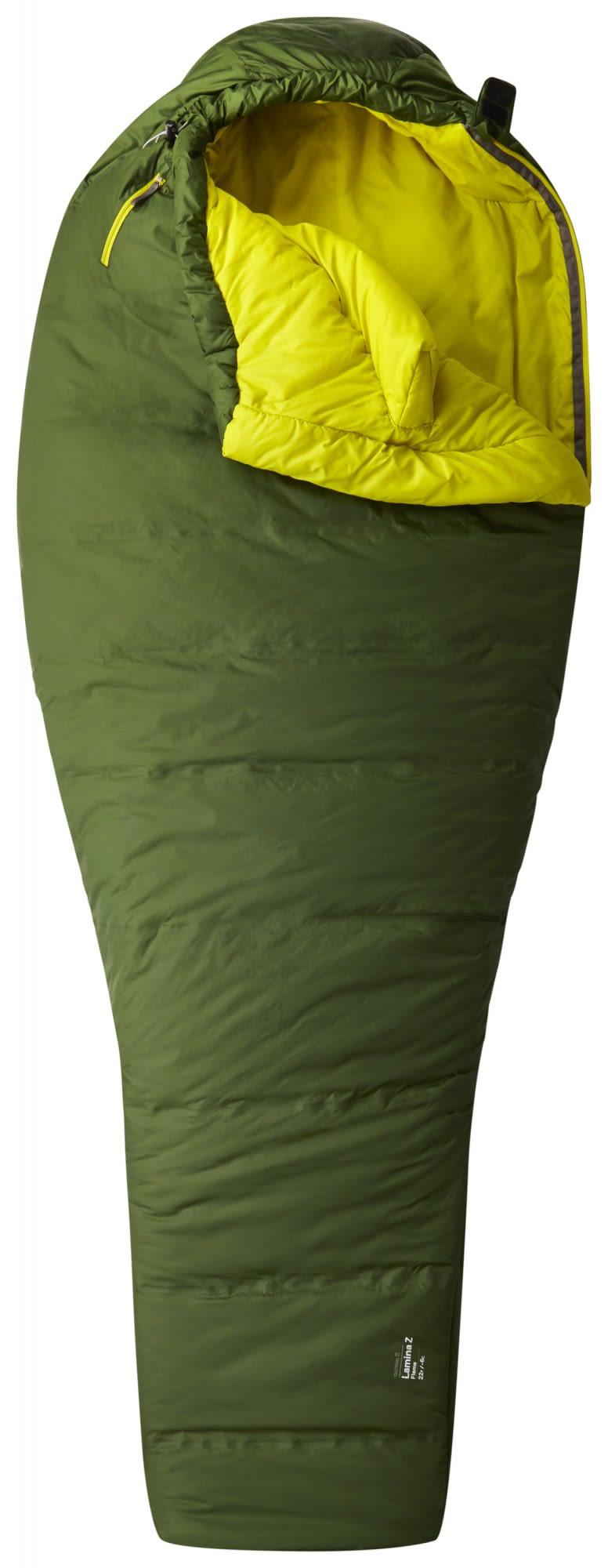 Mountain Hardwear Lamina Z Flame Long Grün, Kunstfaserschlafsack, 213 cm -RV li