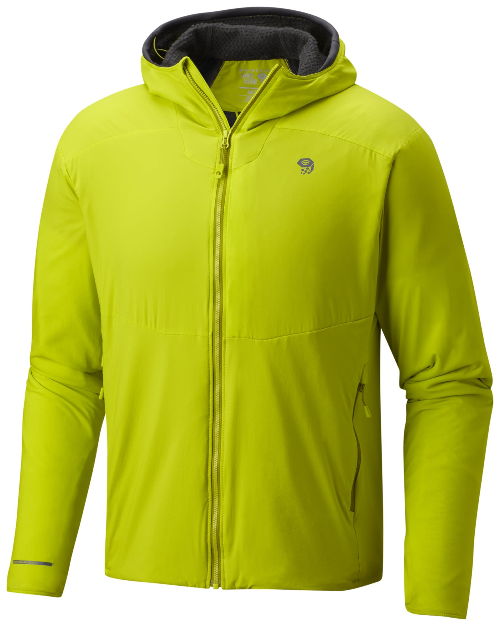 Mountain Hardwear Atherm Hooded Jacket Grün, Male Polartec® Freizeitjacke, M