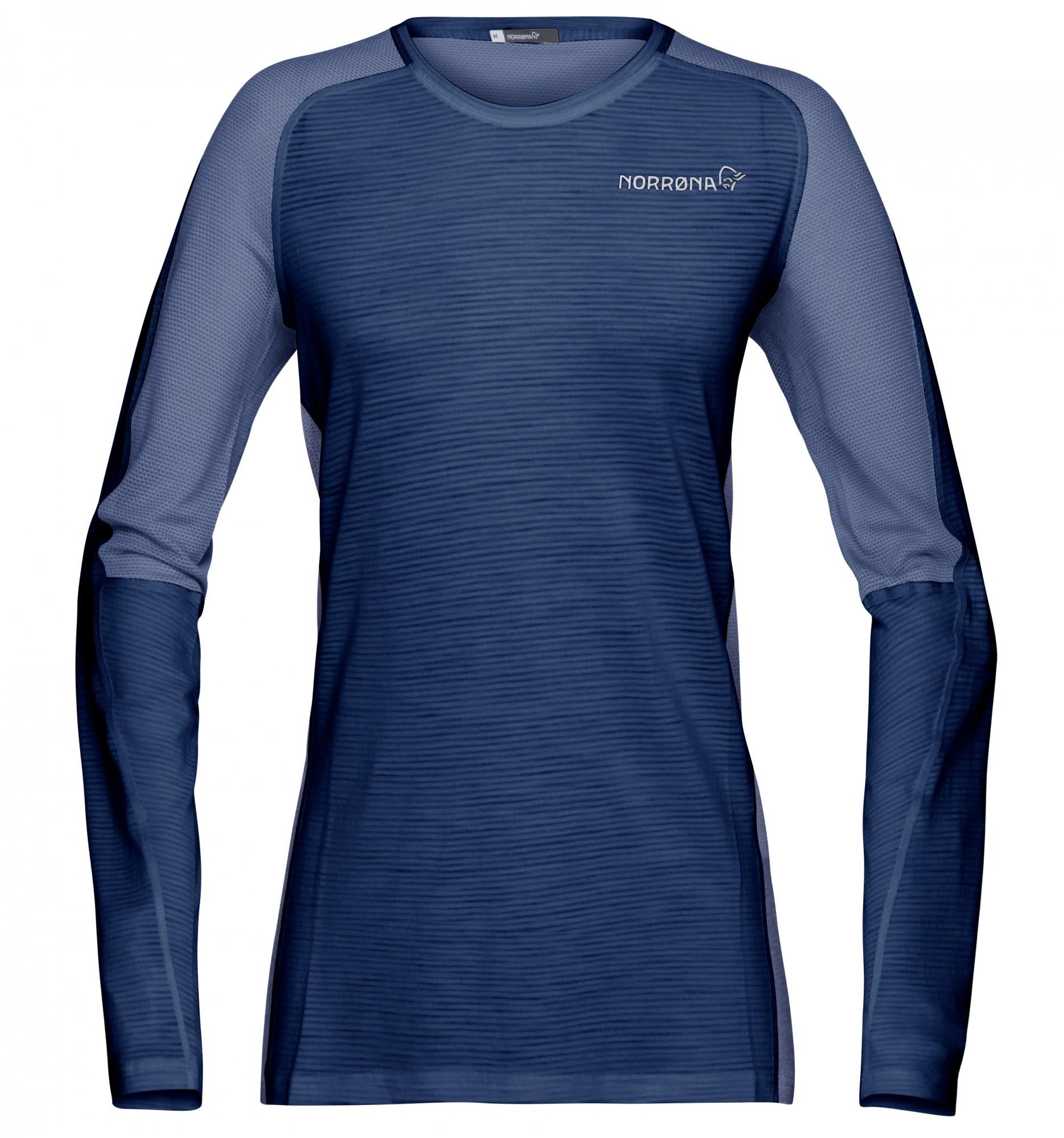 Norrona Bitihorn Wool Shirt Blau, Female Merino Langarm-Shirt, XS