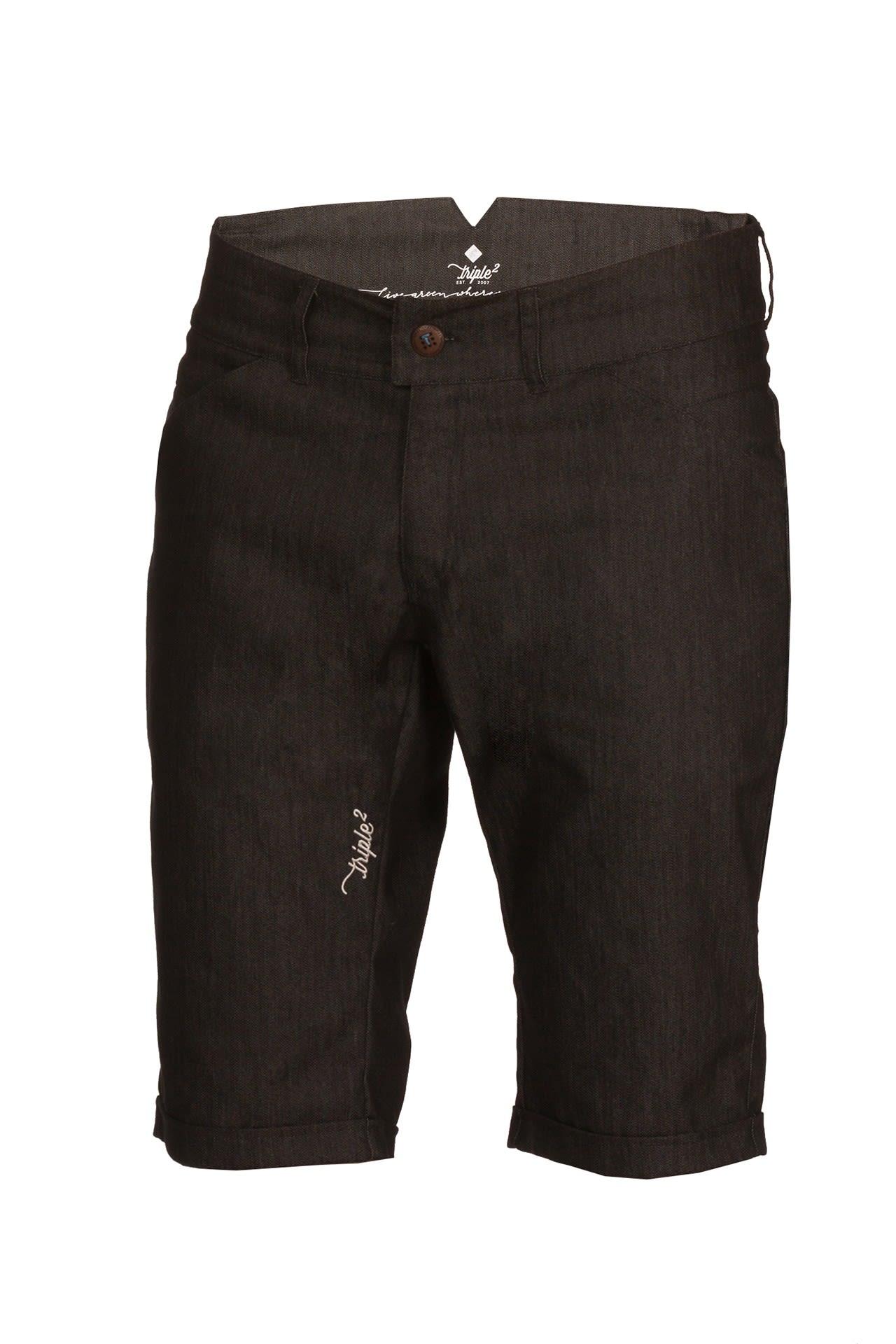 Triple2 Kort Cycling Denim Shorts Schwarz, Male Shorts, XL