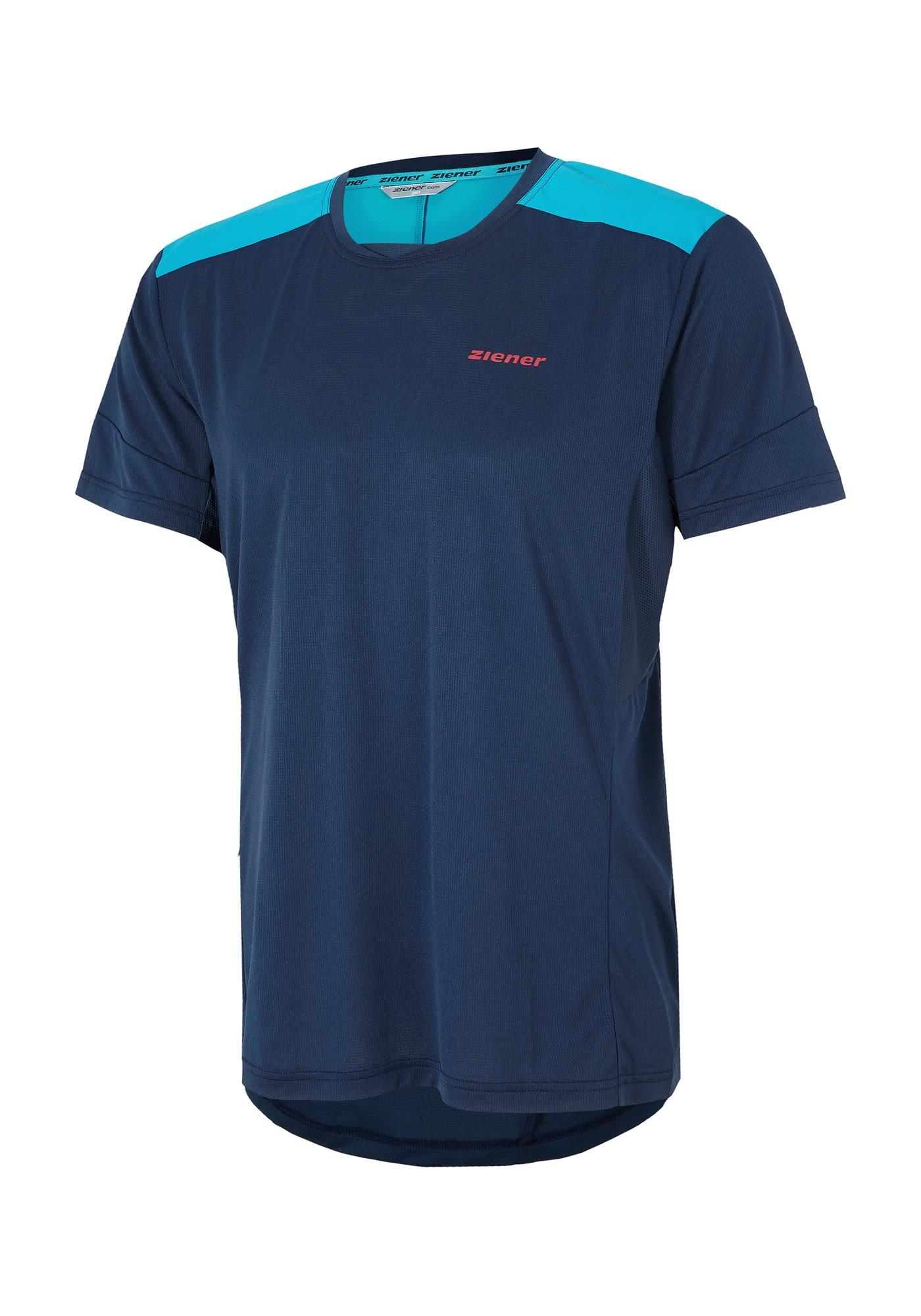 Ziener Nevyo Blau, Male Kurzarm-Shirt, 48