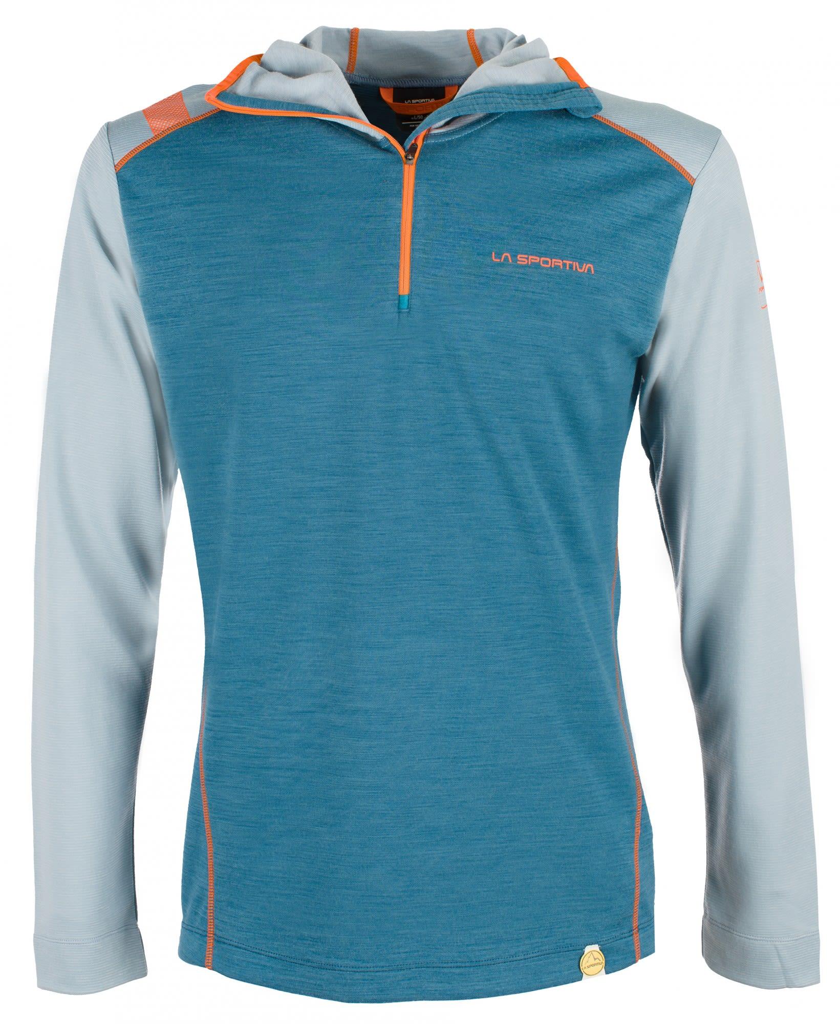 La Sportiva Stratosphere Hoody Blau, Male Merino Langarm-Shirt, S