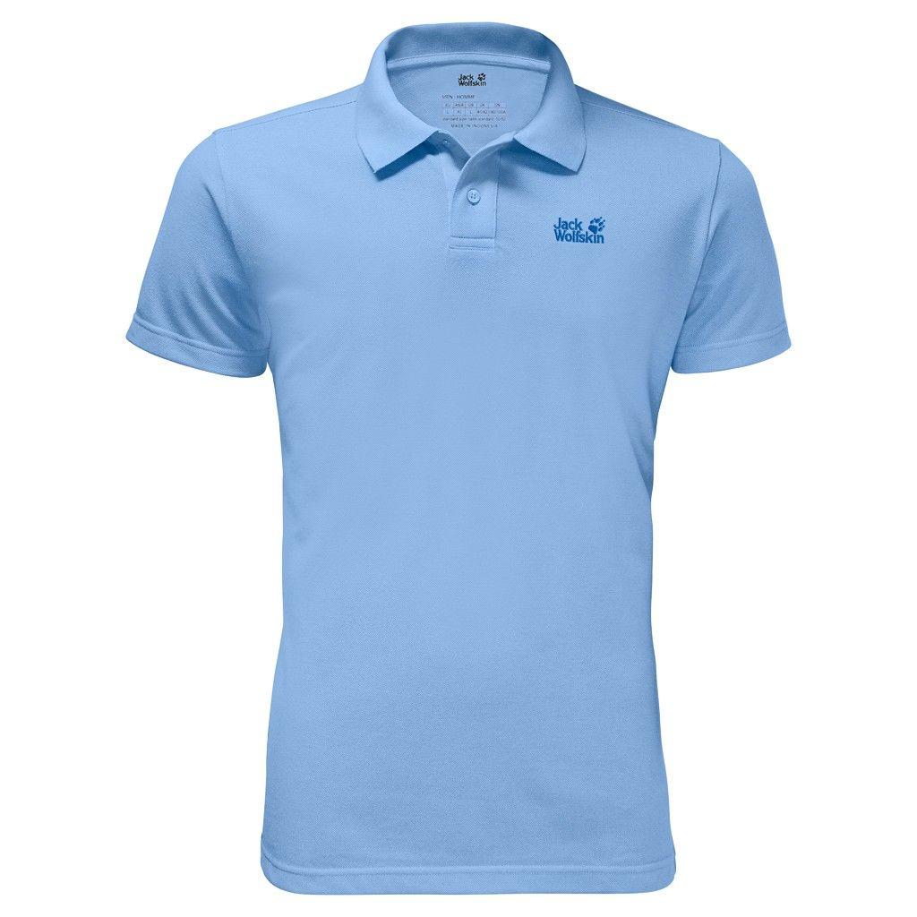 Jack Wolfskin Pique Polo Blau, Male Kurzarm-Polos, XXL