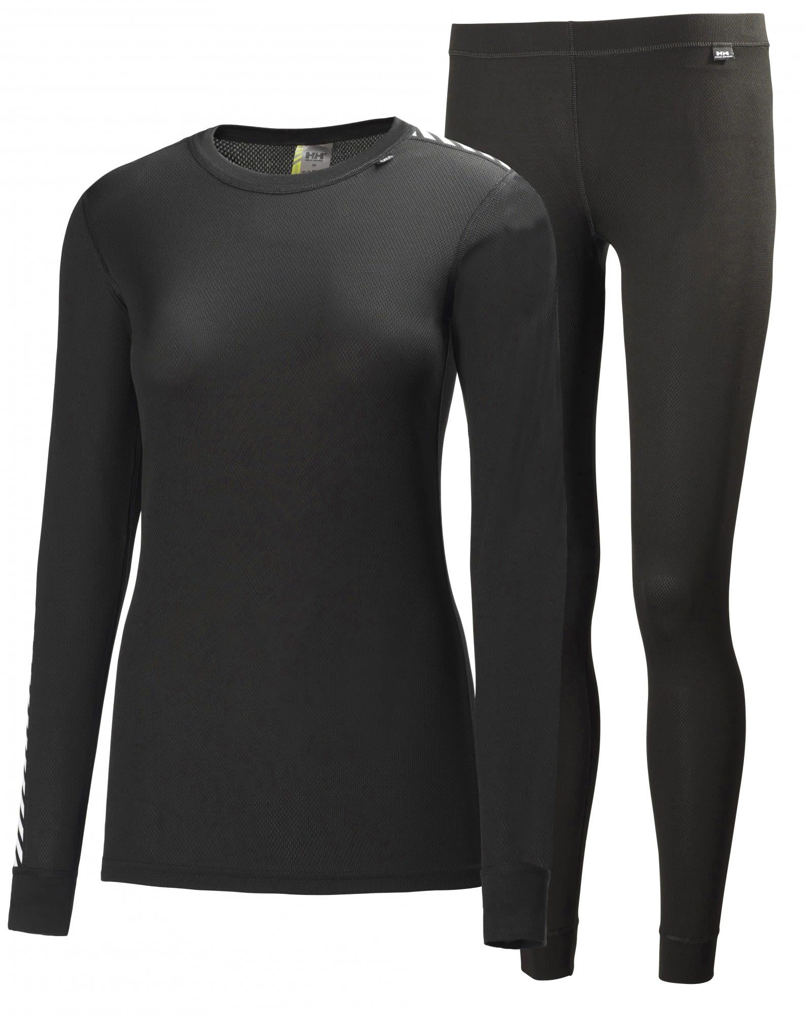 Helly Hansen HH Comfort Light Set Schwarz, Female Langarm-Shirt, S