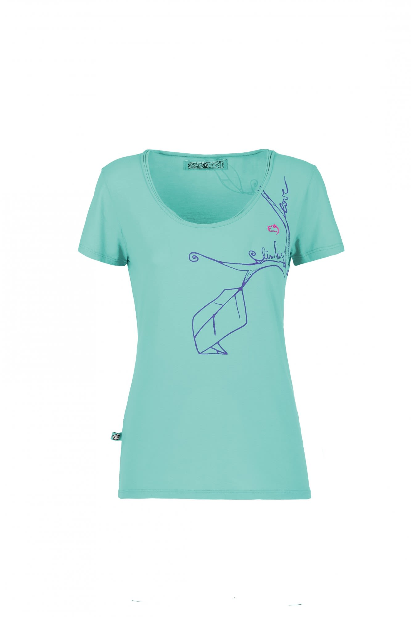 E9 Twig Blau, Female Kurzarm-Shirt, M