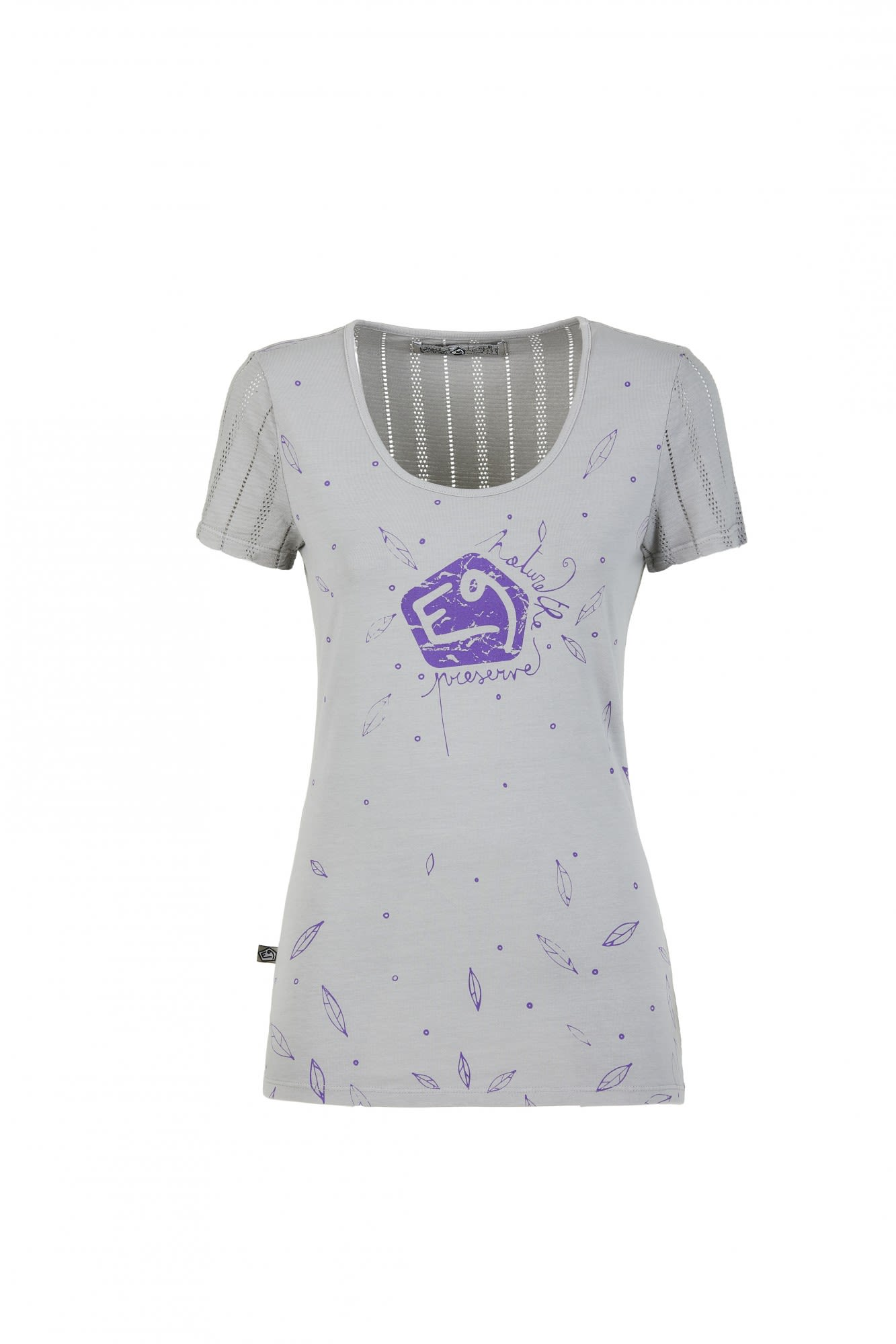 E9 EMY Grau, Female Kurzarm-Shirt, L