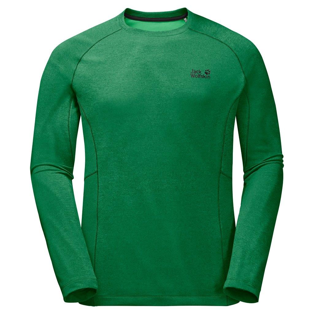 Jack Wolfskin Hydropore Longsleeve Grün, Male Langarm-Shirt, XXL