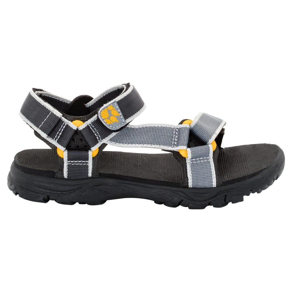 Jack Wolfskin Boys Seven Seas 2 Sandal Grau, EU 40 -Farbe Burly Yellow XT, 40