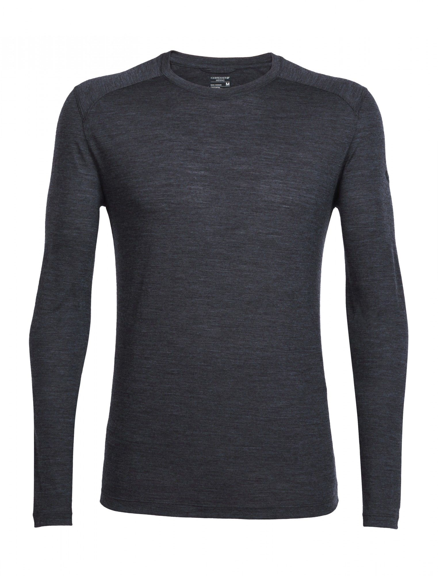 Icebreaker Sphere Long-Sleeve Crewe Schwarz, Male Merino XL -Farbe Black HTHR, X